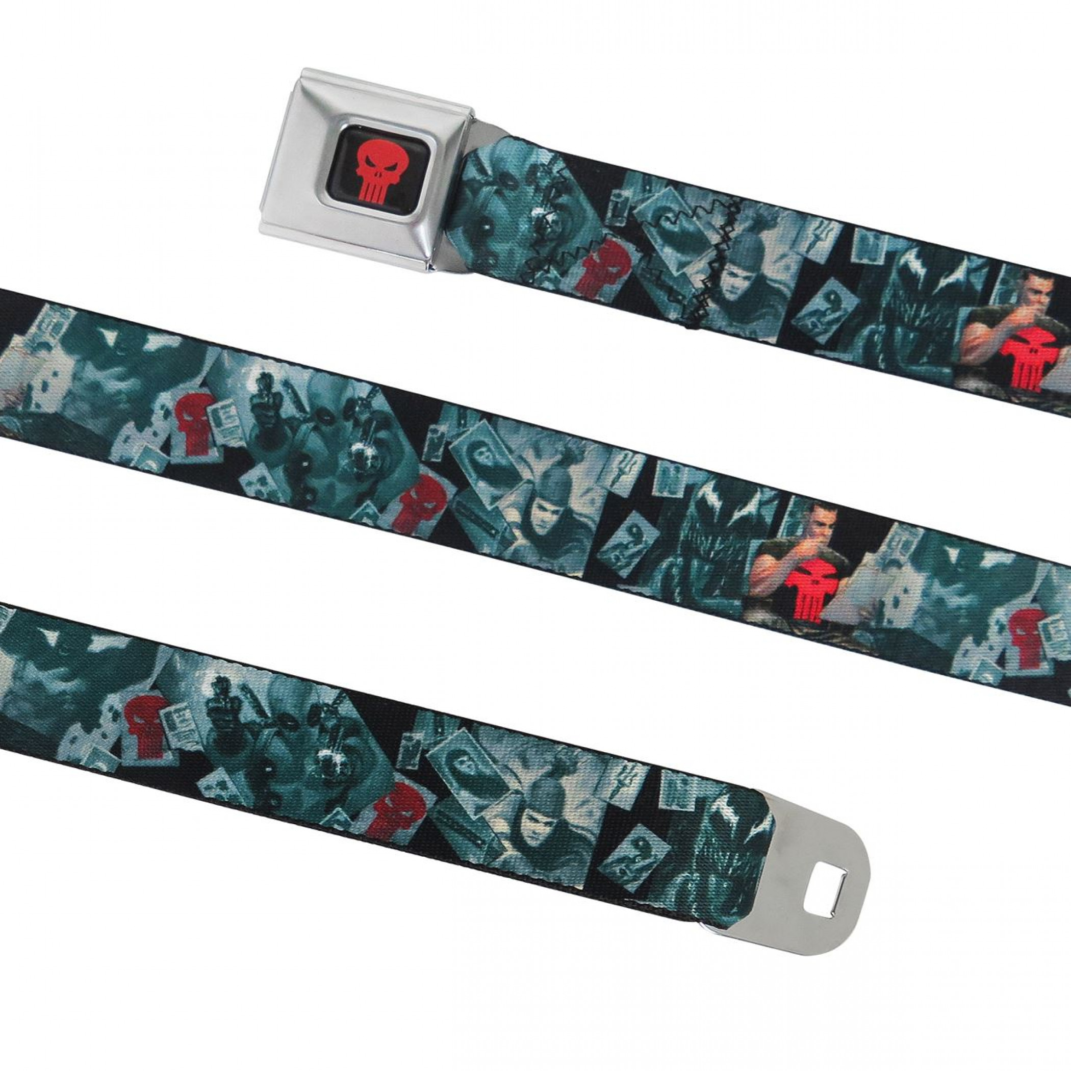 Punisher Frank Castle Red Symbol Seatbelt Belt