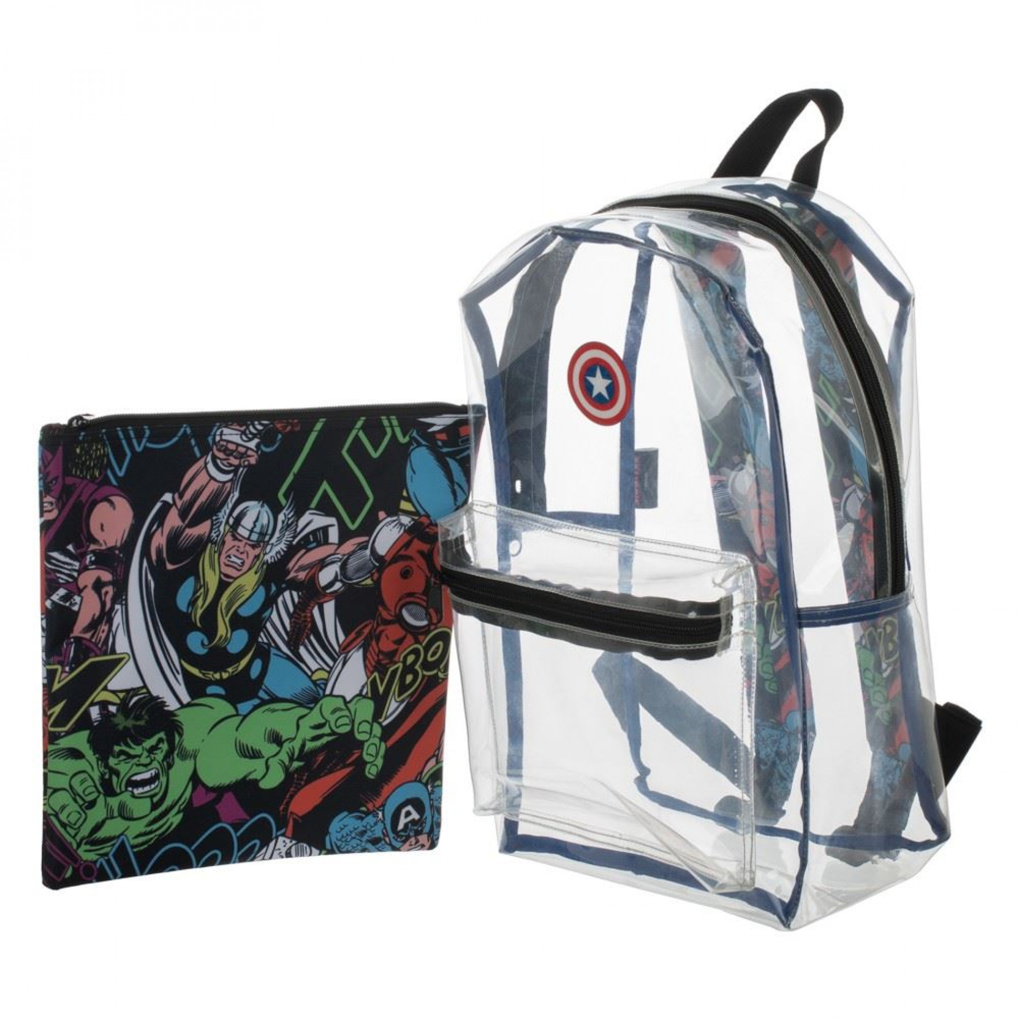 Marvel Captain America Clear with Removable Pouch Backpack