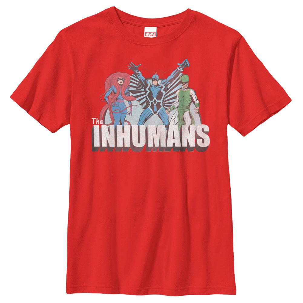 Marvel Teams Inhuman Groupshot Red Youth T-Shirt