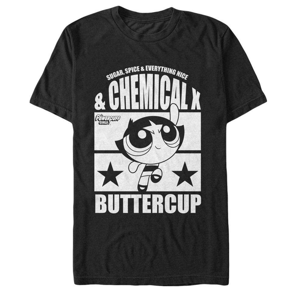 Power Puff Girls Chemical X Buttercup Black T-Shirt