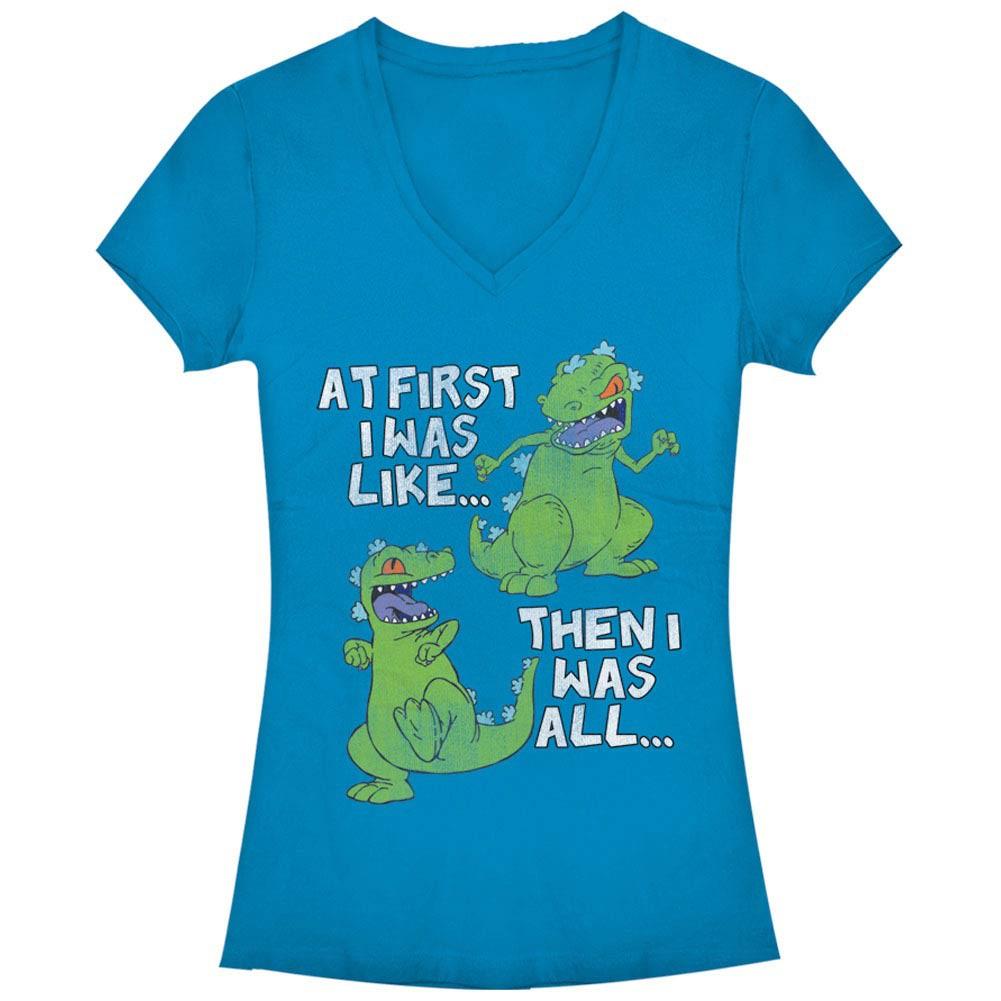 Rugrats Nickelodeon First Blue Juniors V Neck T-Shirt