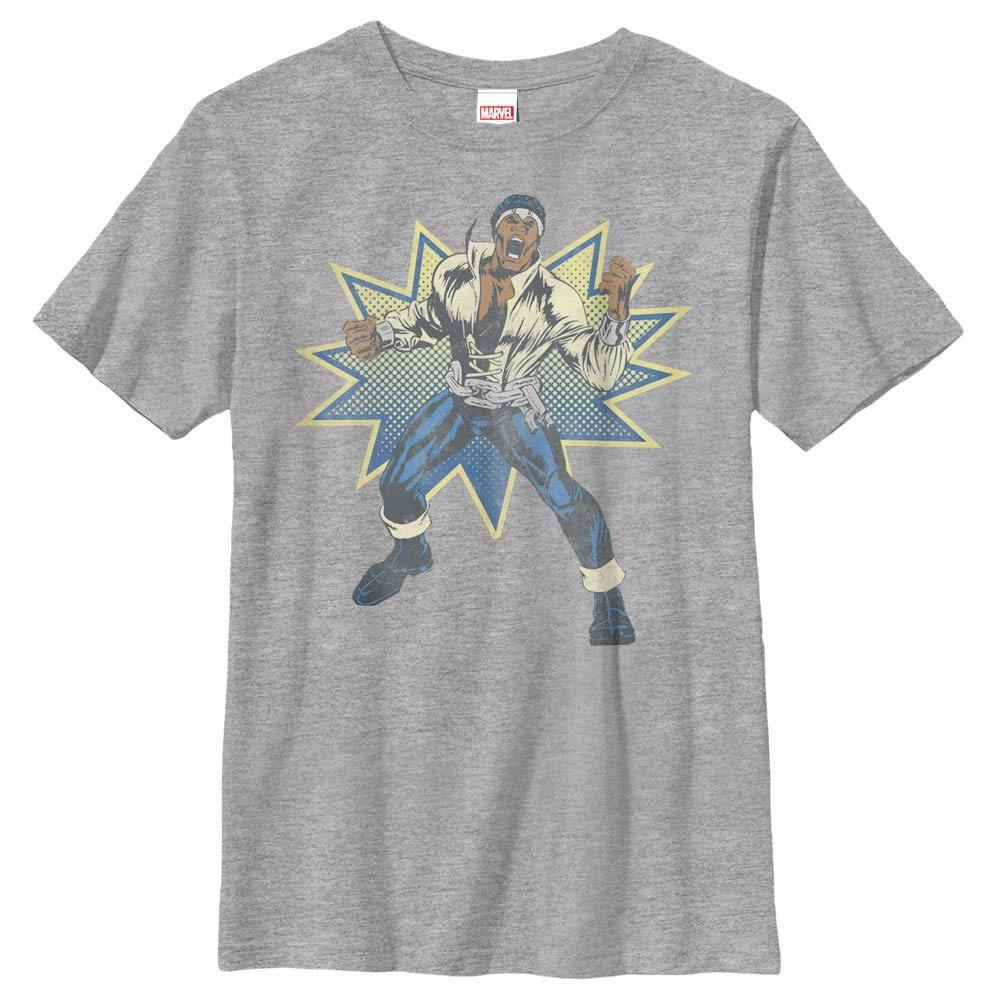 Marvel Teams Power Man Gray Youth T-Shirt