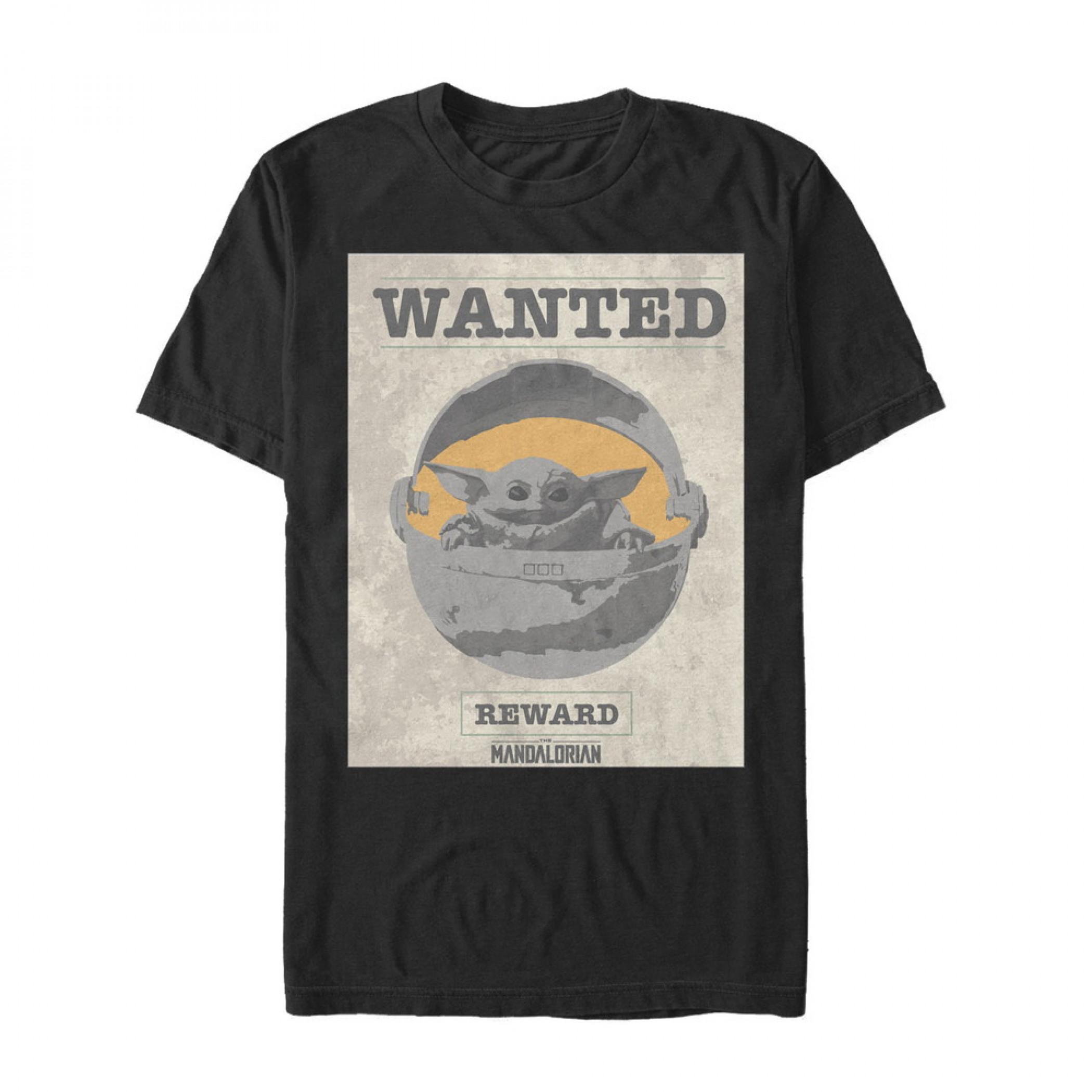 The Mandalorian Reward Poster The Child Black T-Shirt