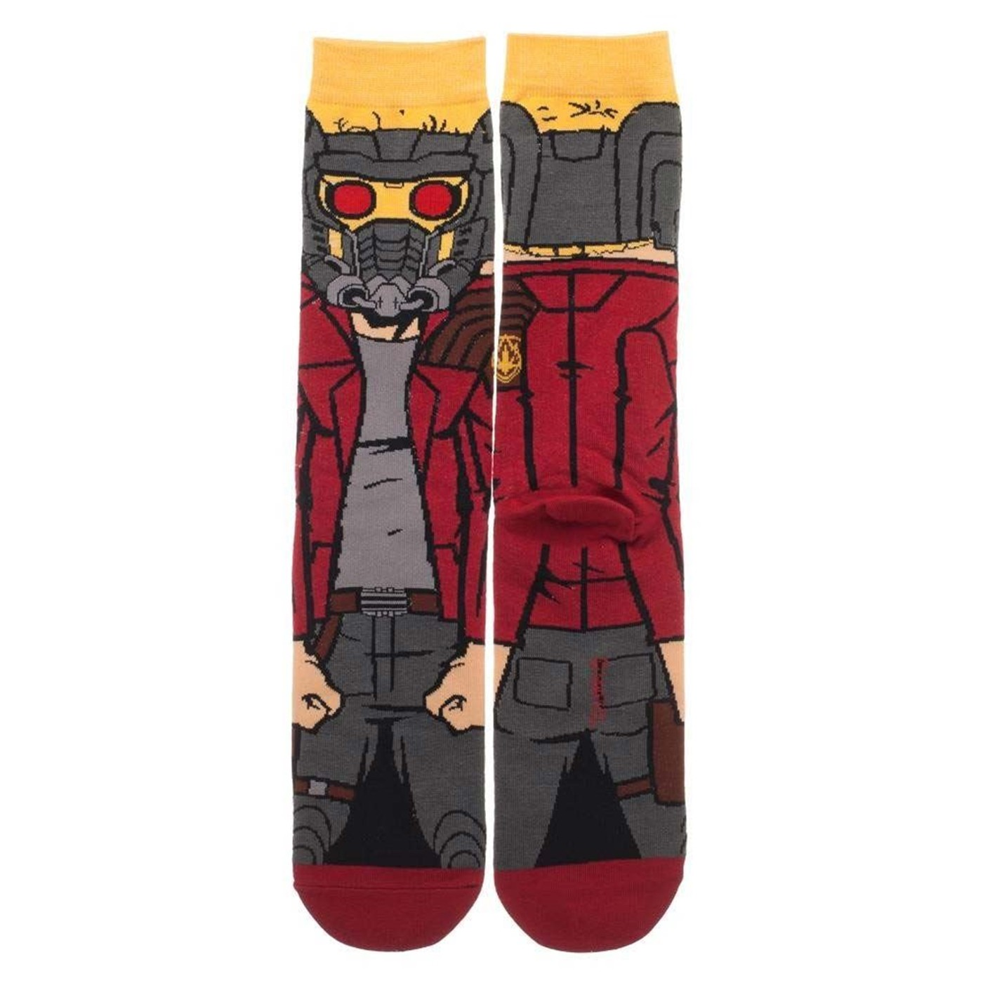 Guardians of the Galaxy Starlord Character Crew Sock