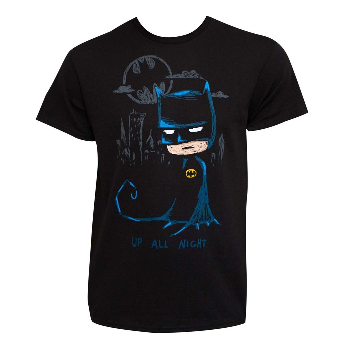 Batman Lonely Night Men's T-Shirt