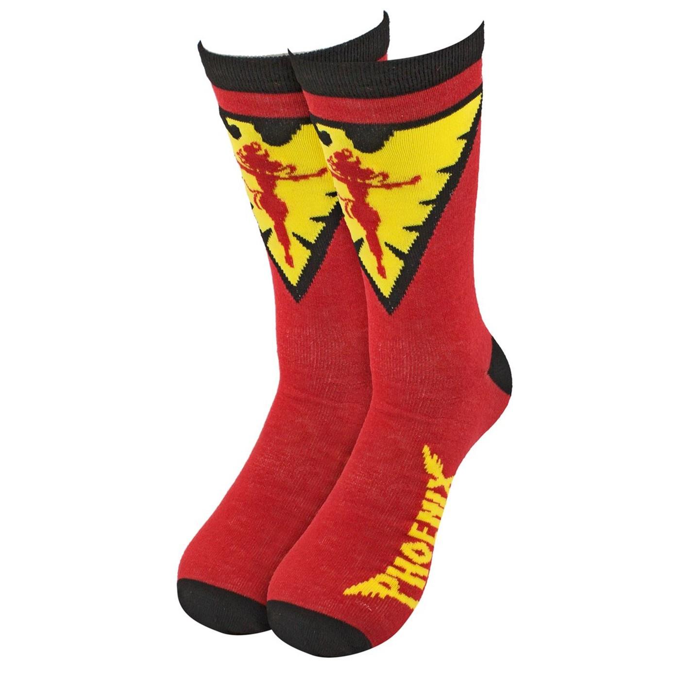 b27bb042fd0f4 X-men Dark Phoenix Crew Socks. $9.99