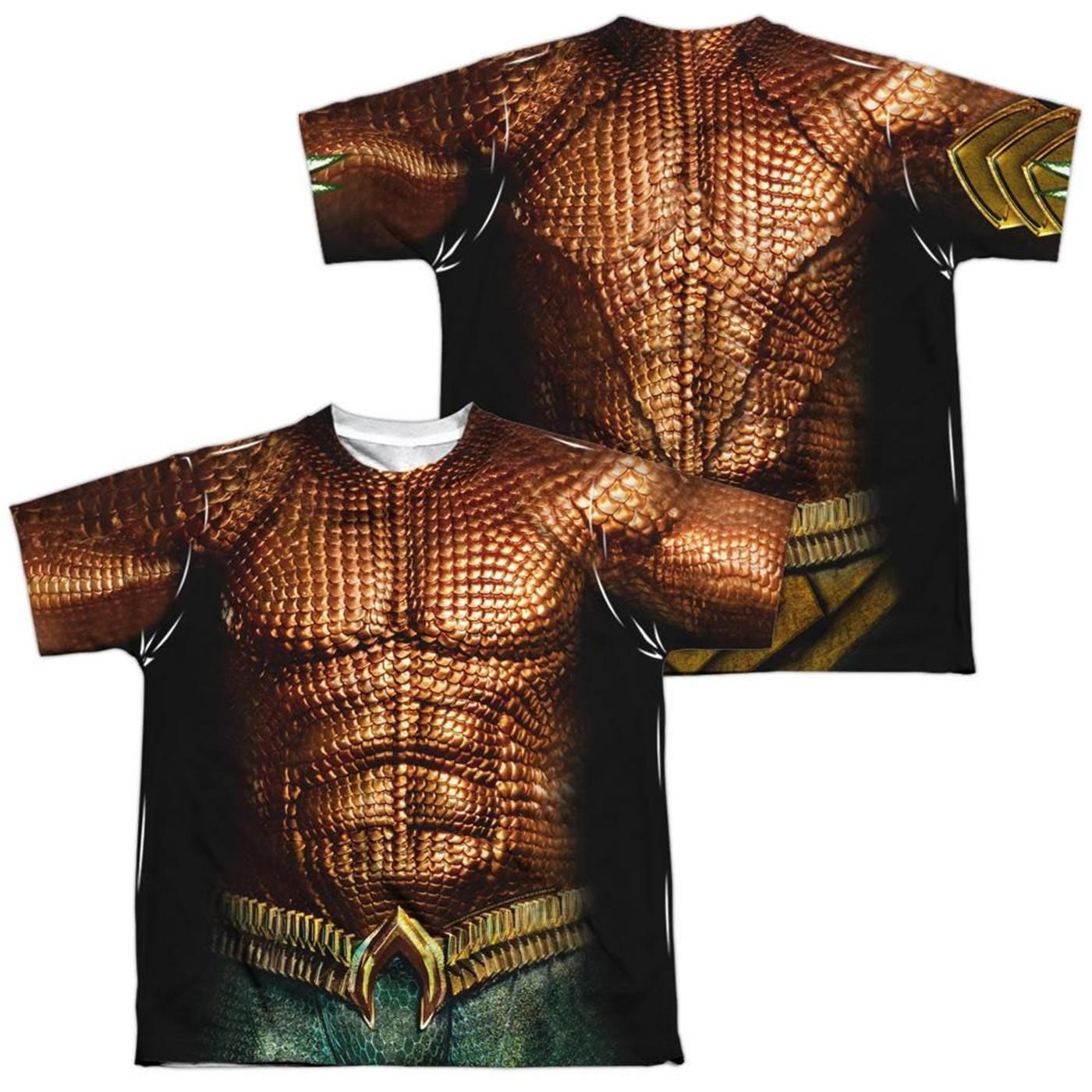 Aquaman Movie Double Sided Costume Men's T-shirt