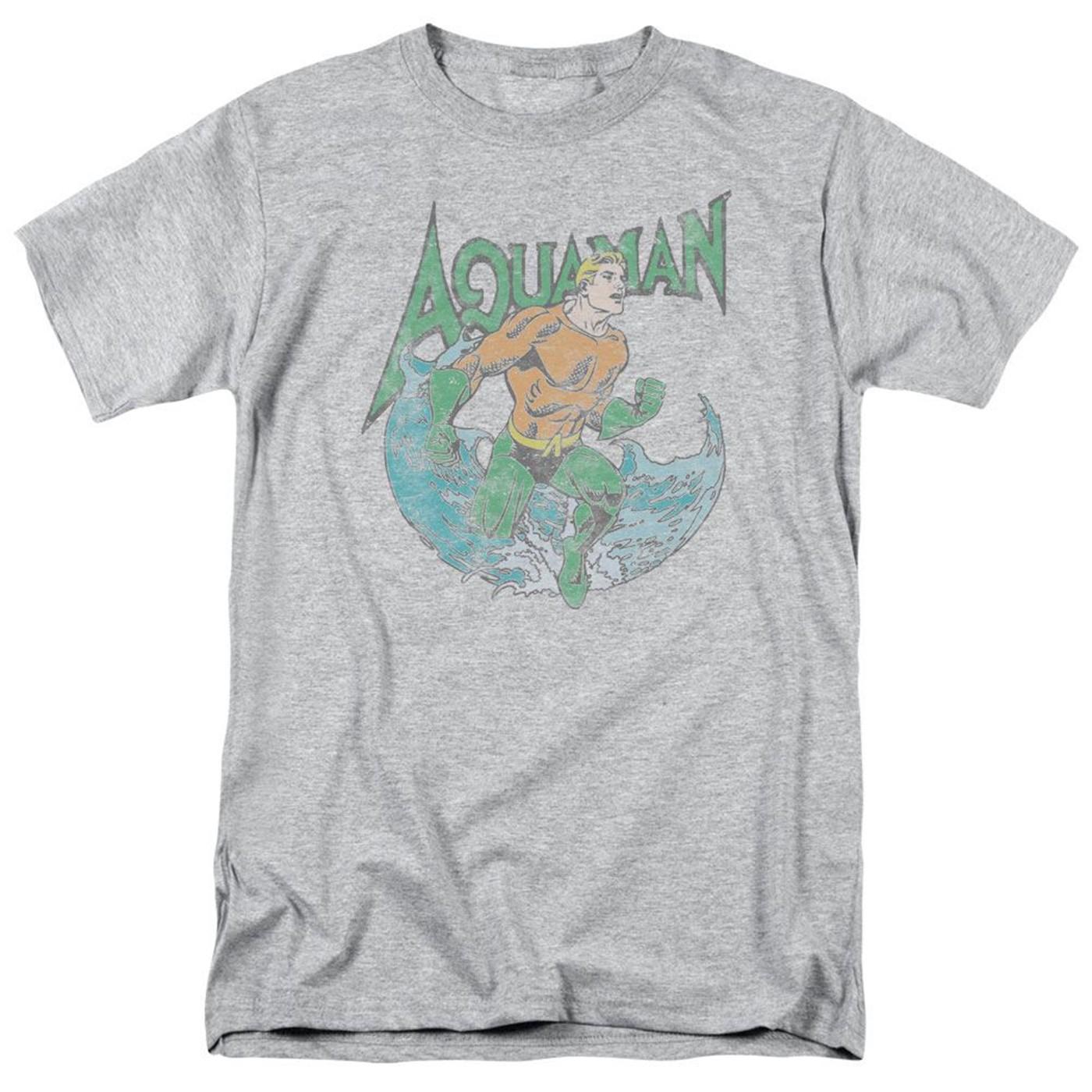 Aquaman Pose Grey Men's T-Shirt
