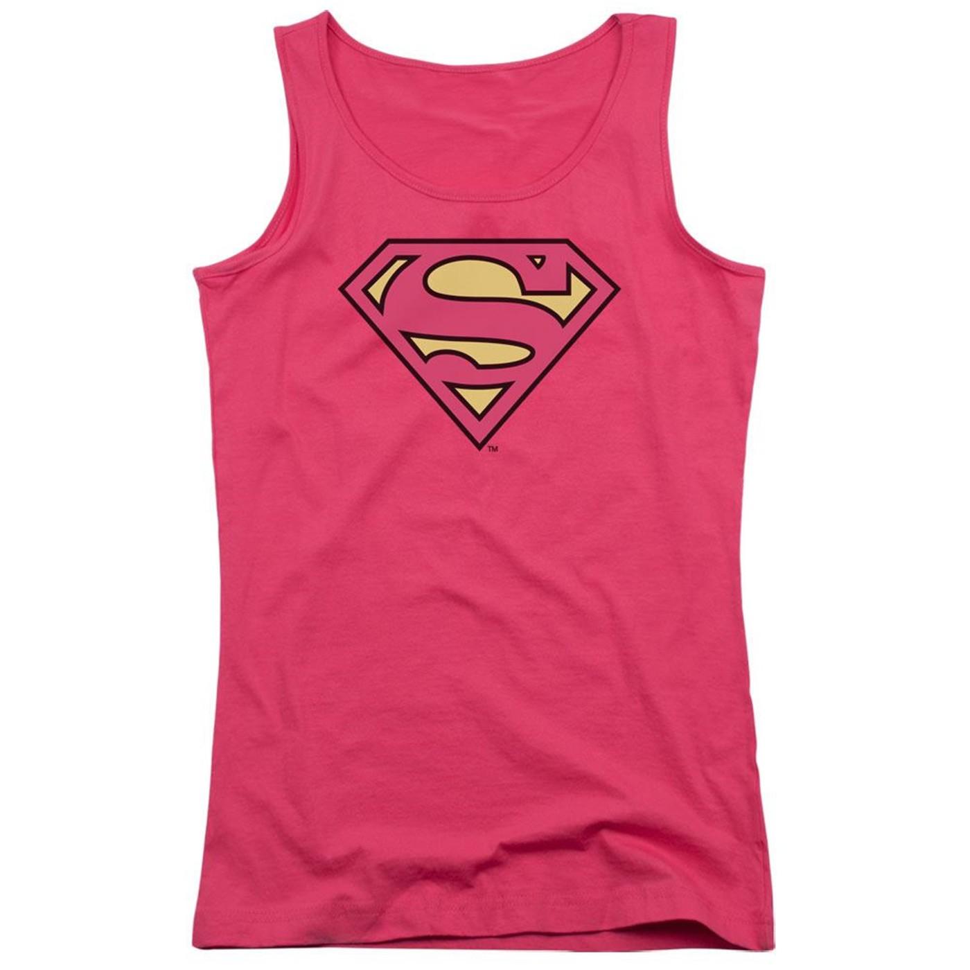 Superman Classic Logo Pink Women's Tank Top