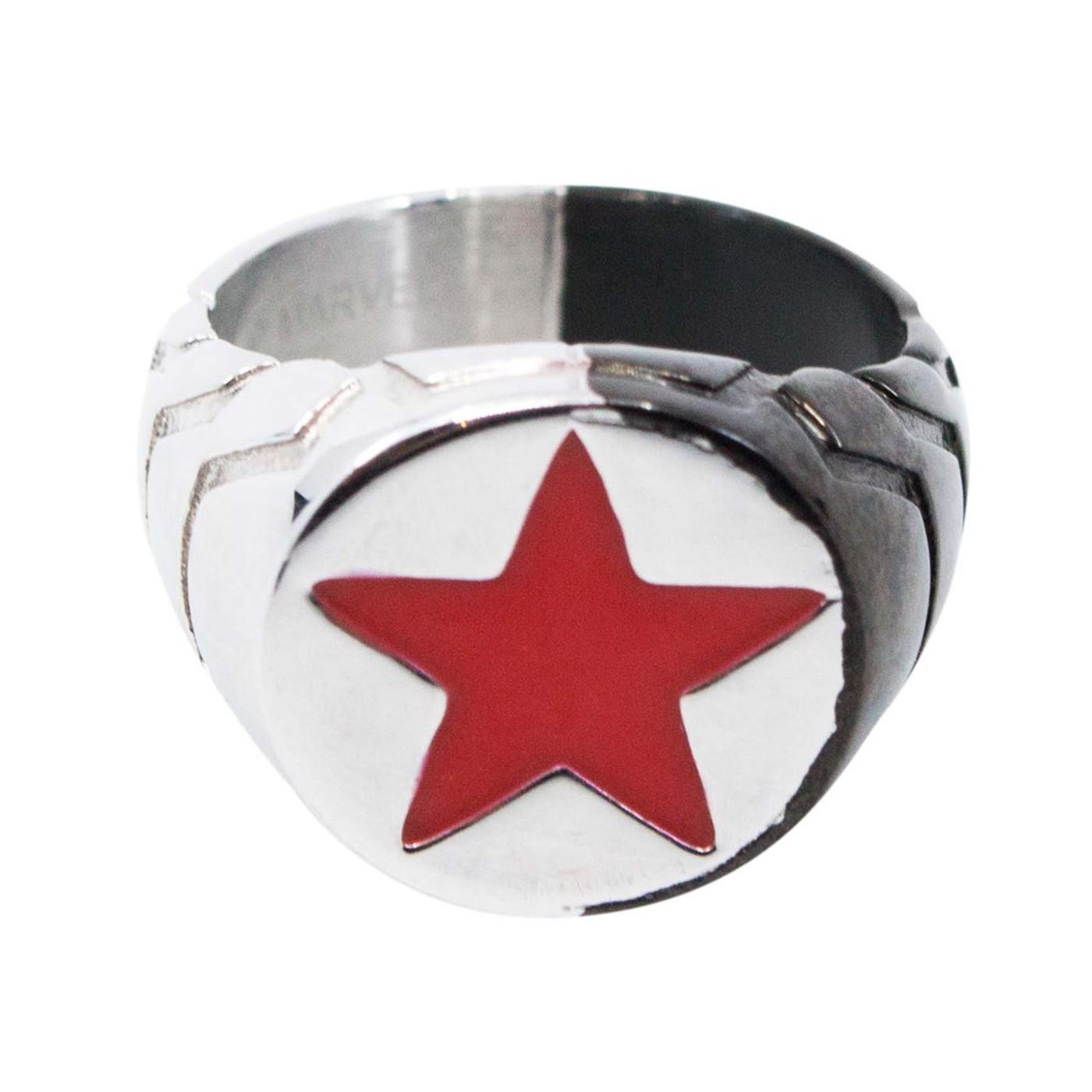 Winter Soldier Metal Symbol Ring