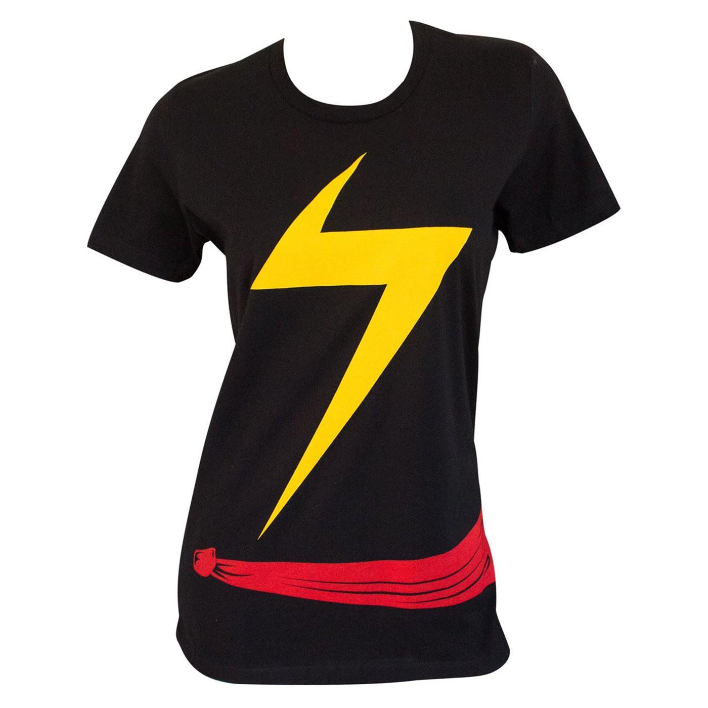 Ms. Marvel Women's Costume Standard T-shirt