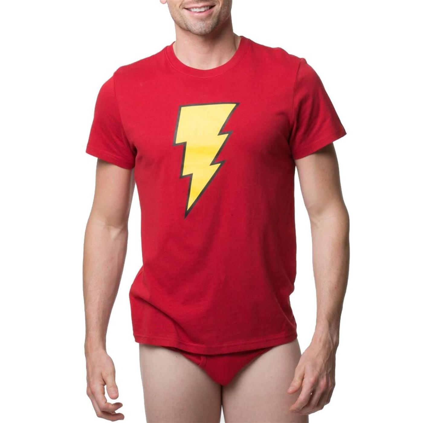 Shazam! Men's Underwear Briefs and Shirt Set