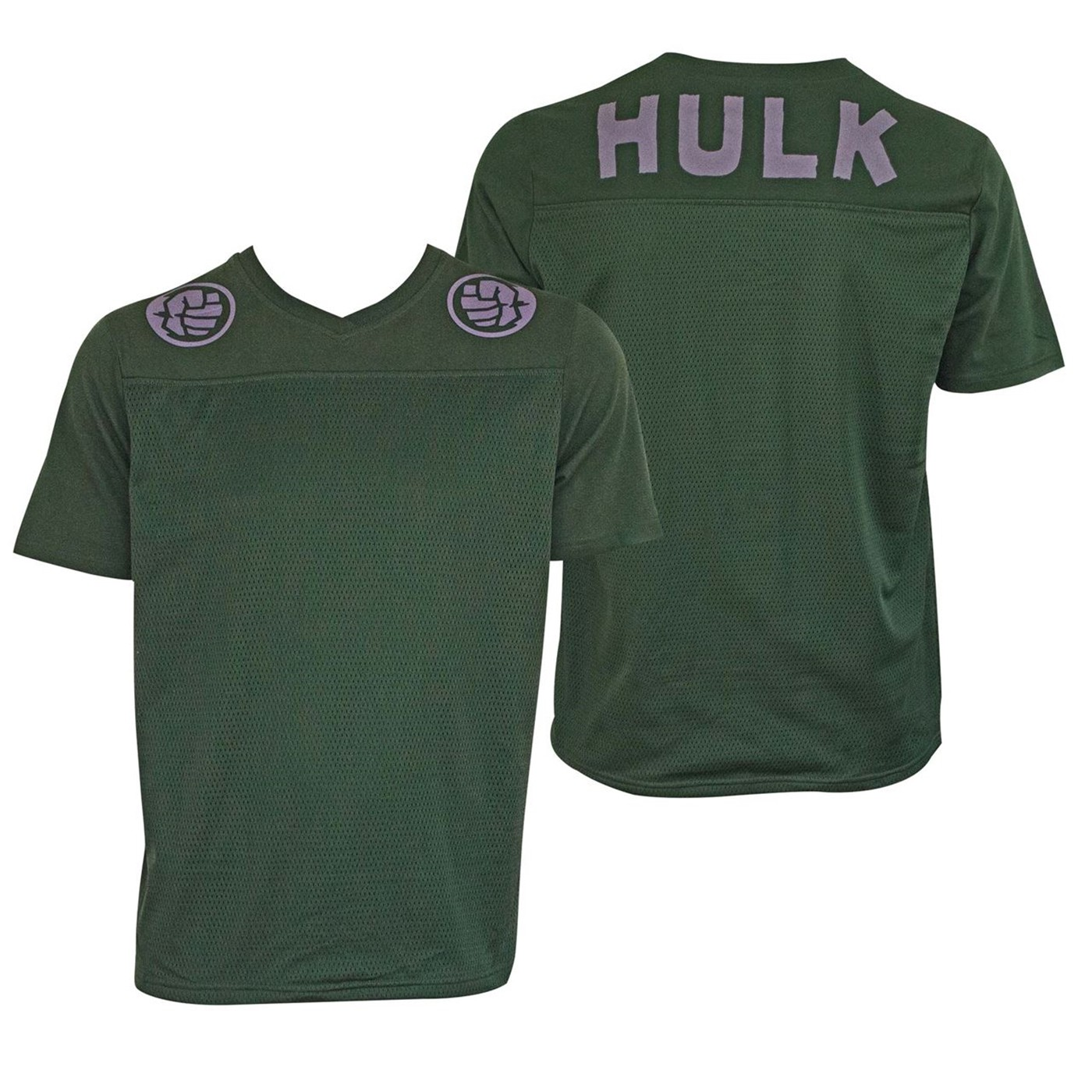 Incredible Hulk Football Jersey Men's Green T-Shirt