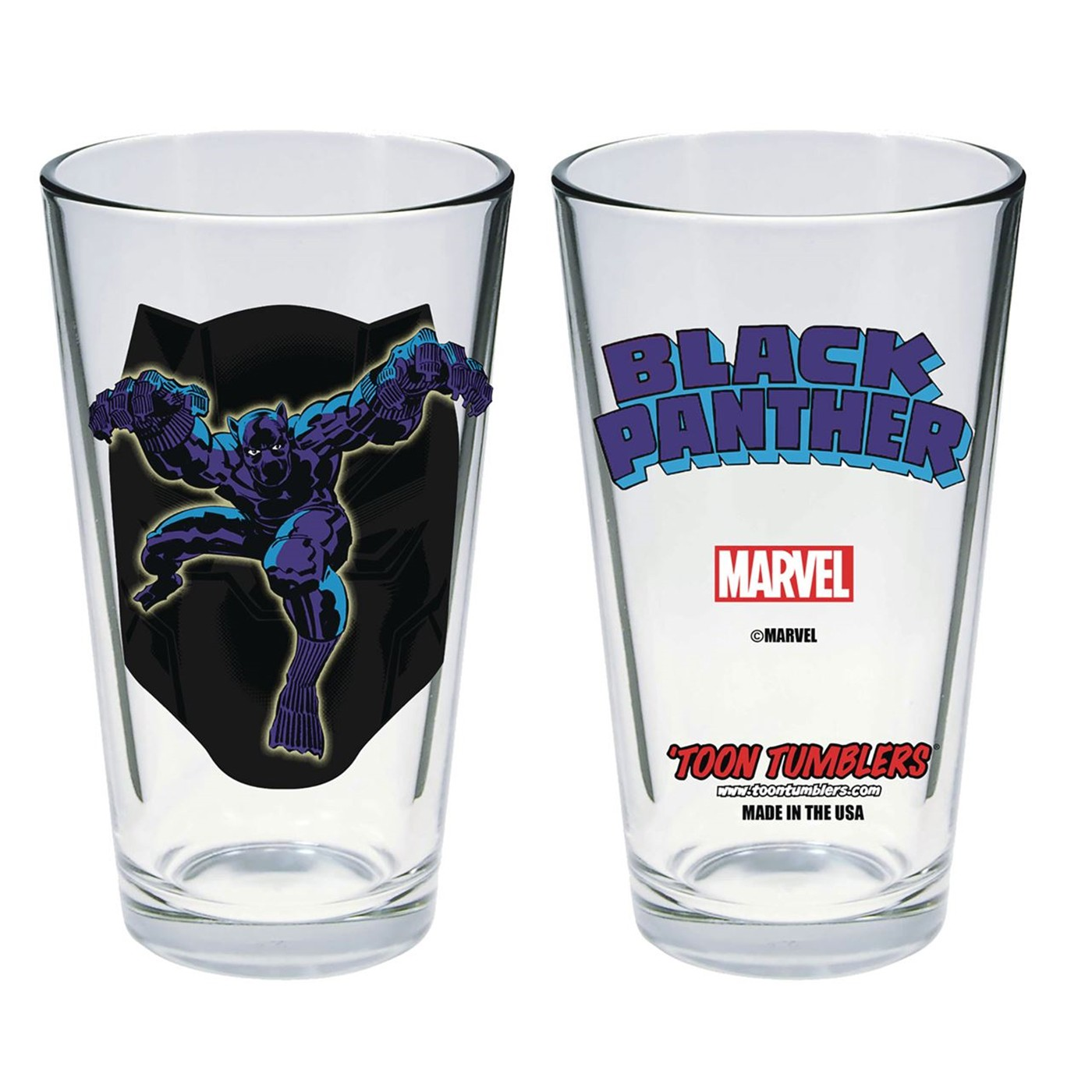 Black Panther Kirby Art Pint Glass