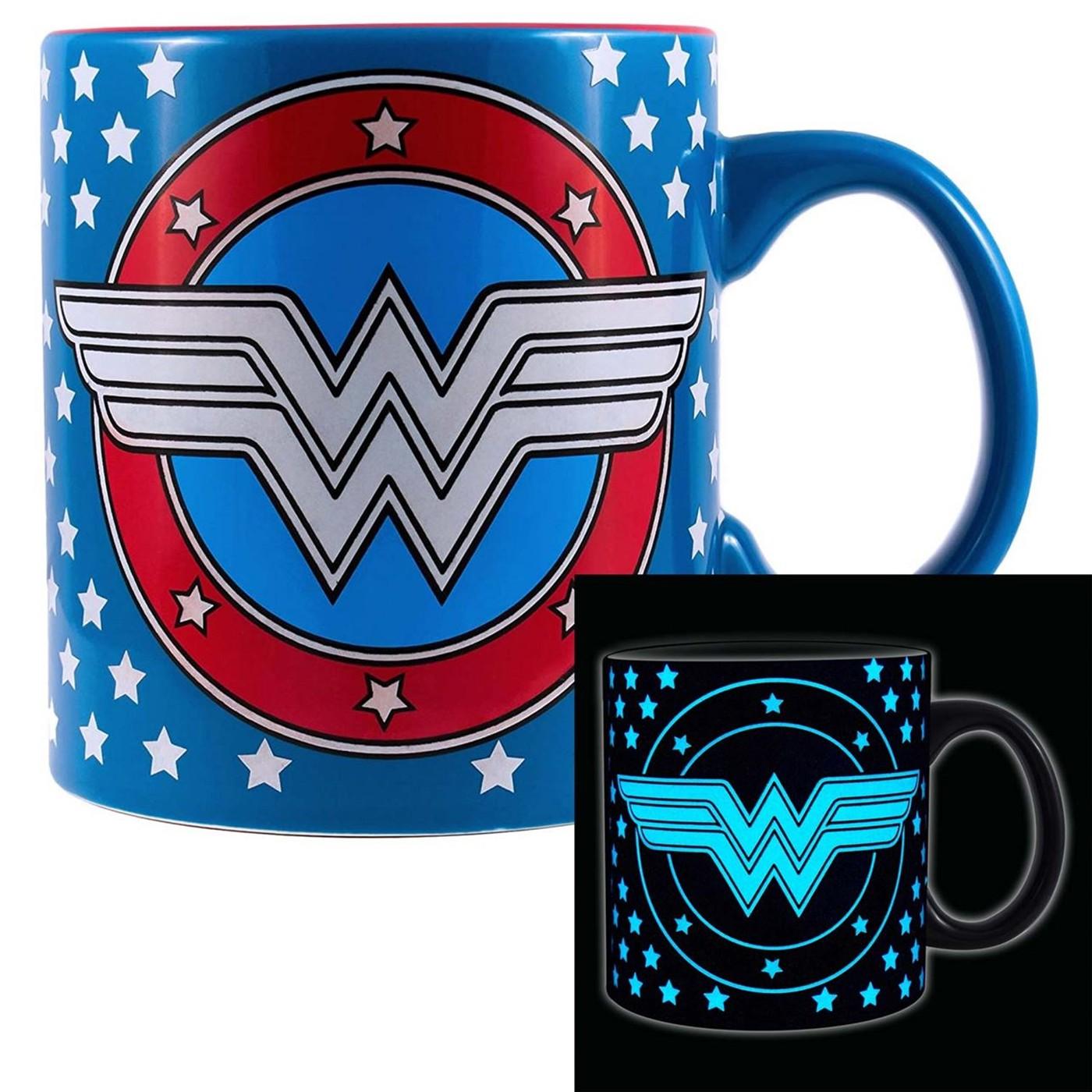 Wonder Woman 20 Ounce Glow In The Dark Mug
