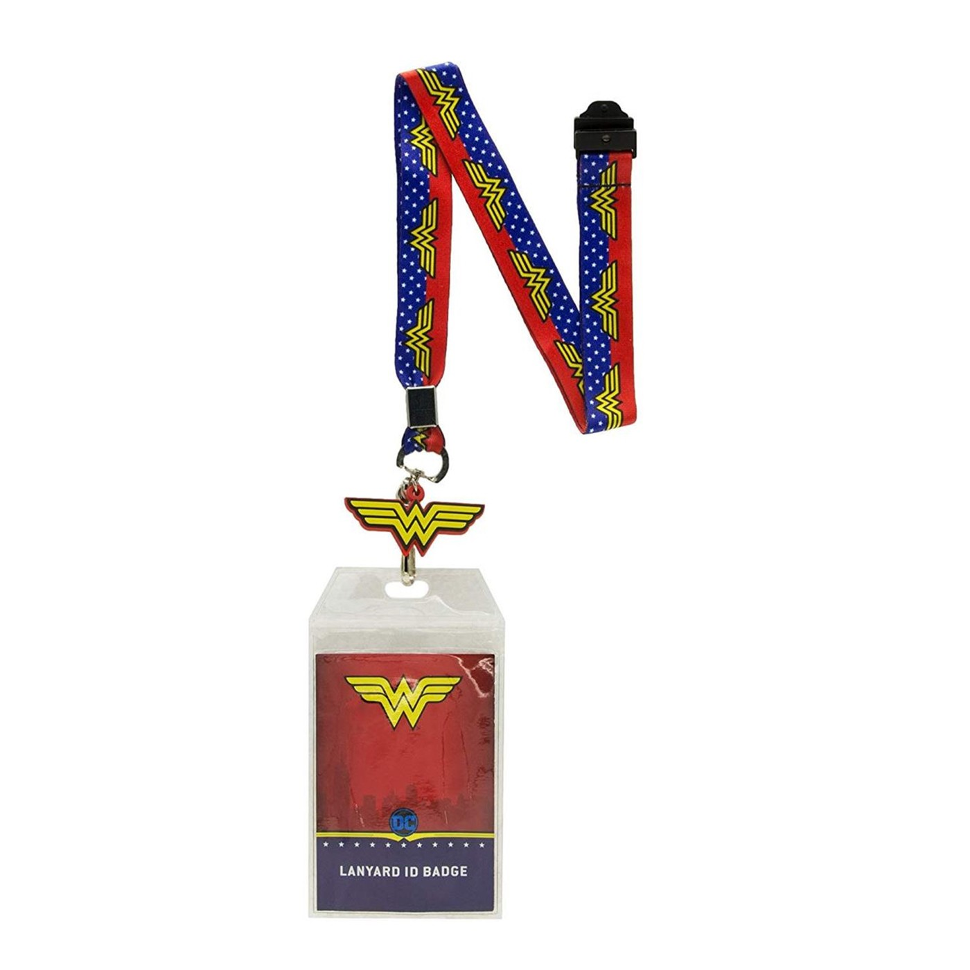 Wonder Woman Lanyard With Badge and Rubber Charm
