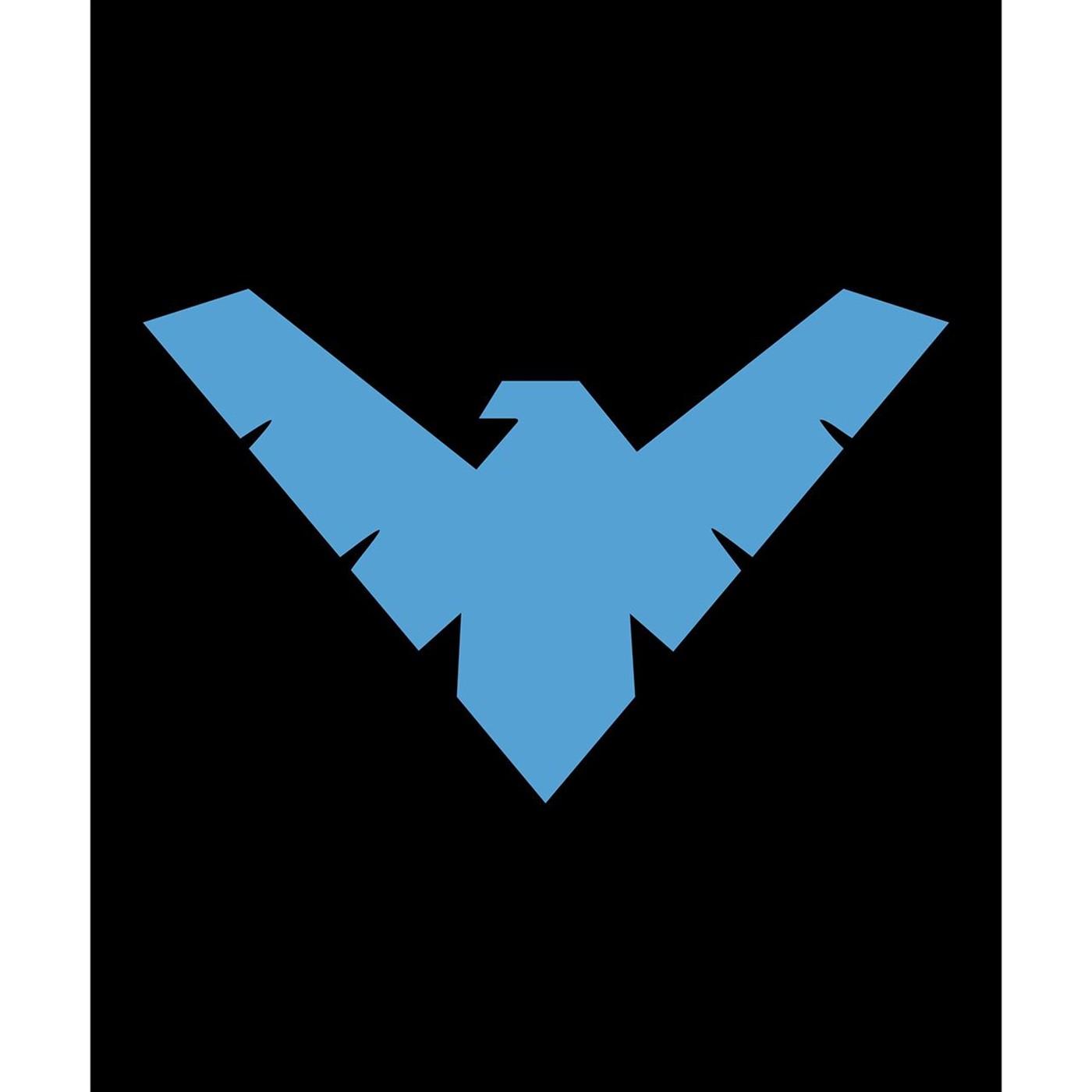 Nightwing Symbol Queen Blanket