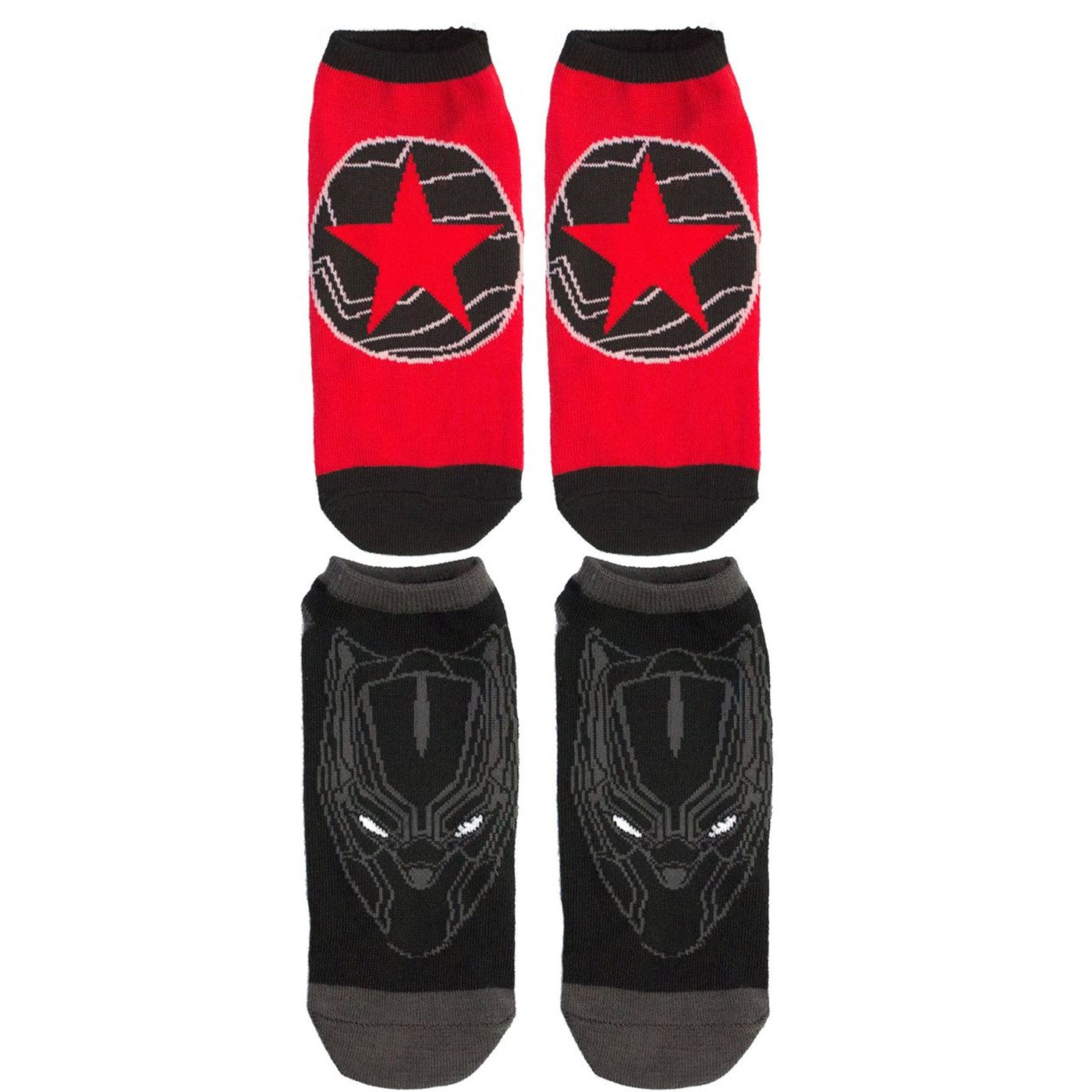 Black Panther and Winter Soldier 2-pack Women's Ankle socks