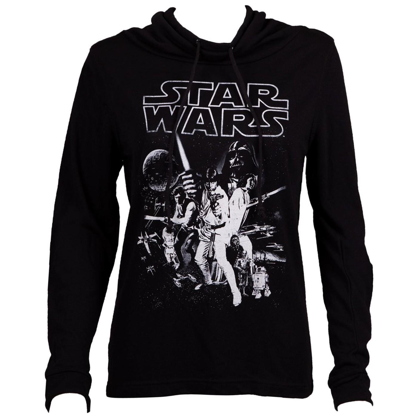 Star Wars New Hope Poster Long Sleeve Women's T-Shirt
