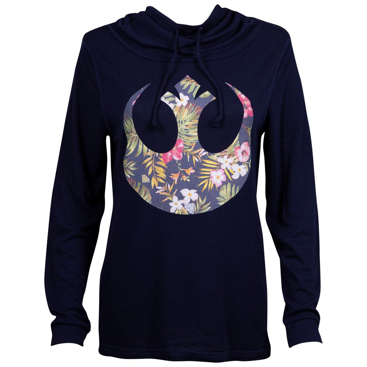 Star Wars Rebel Floral Long Sleeve Women's T-Shirt