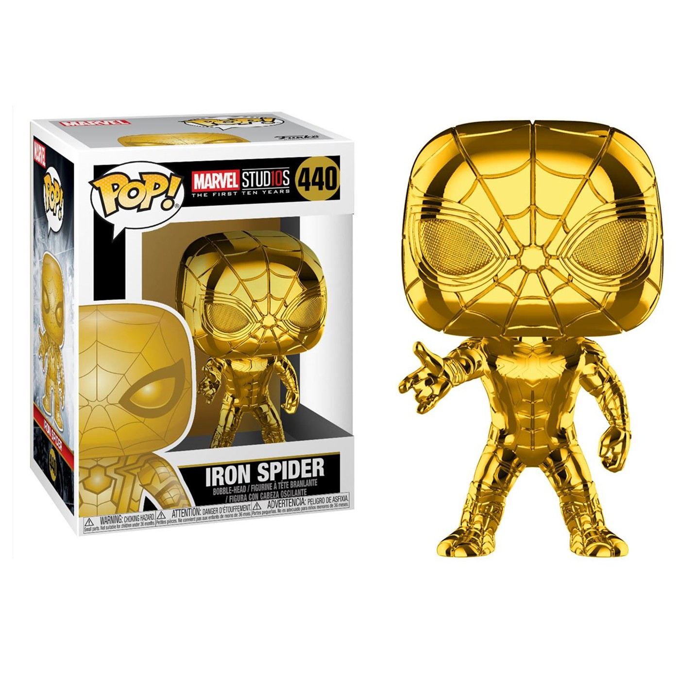 Pop! Marvel: MS 10 - Iron Spider Gold Bobblehead
