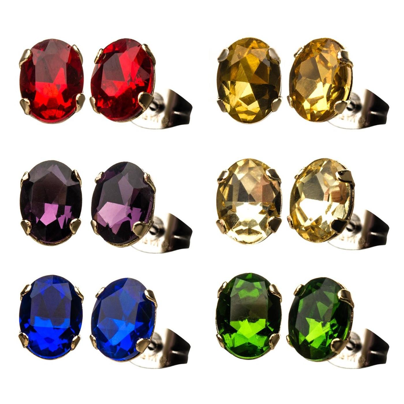 Infinity Gem 6-pack Stud Earrings