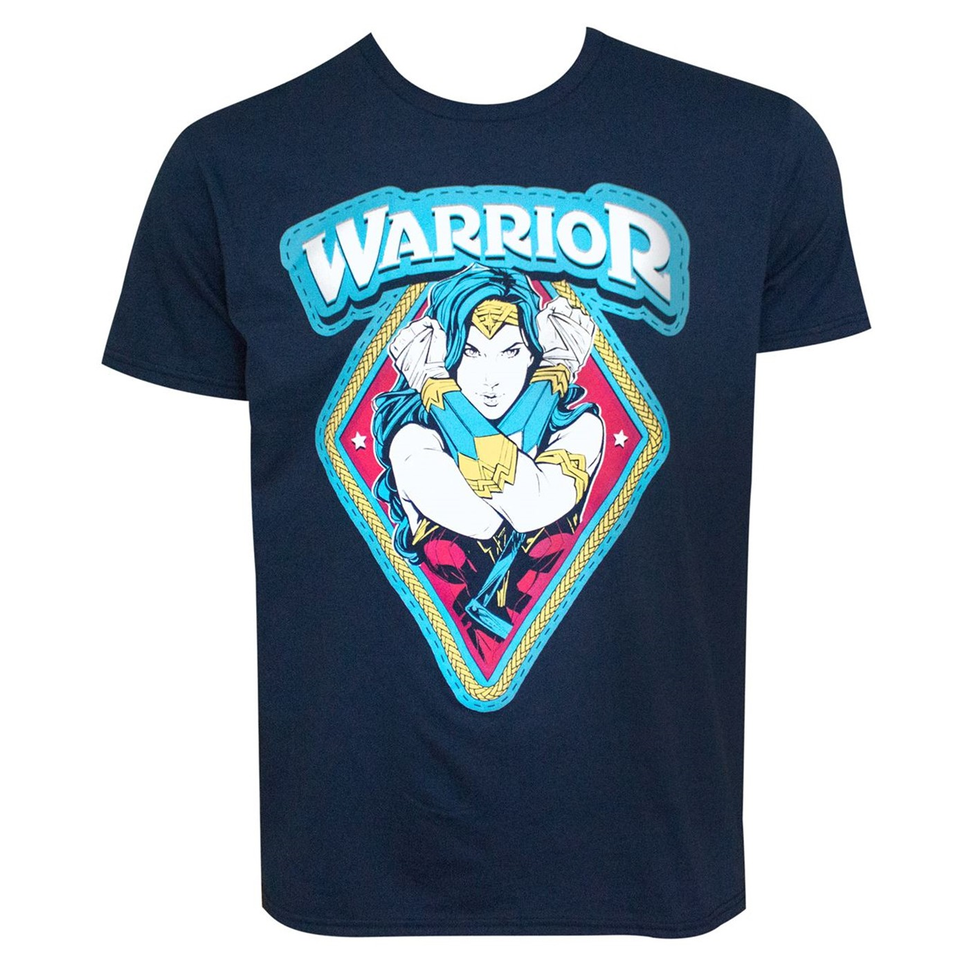 Wonder Woman Warrior NAVY Men's T-Shirt