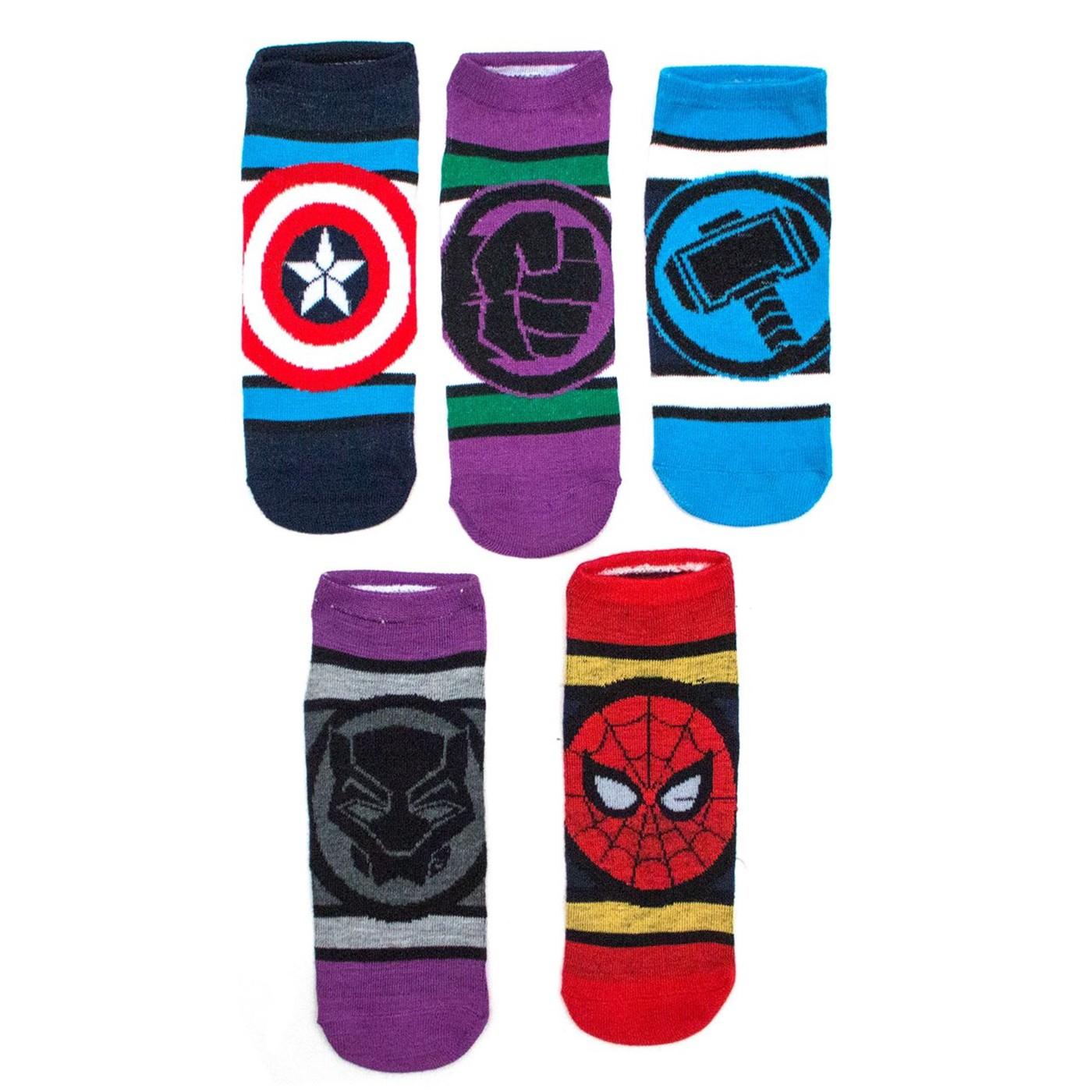 Marvel Avengers Ladies 5 Pair Pack Low Cut socks