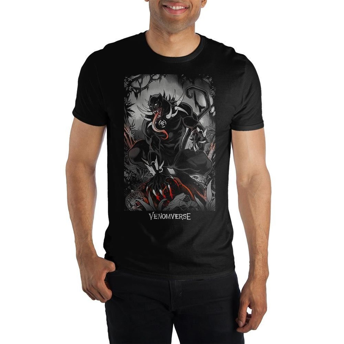 Black Panther Venomized Men's Black T-Shirt