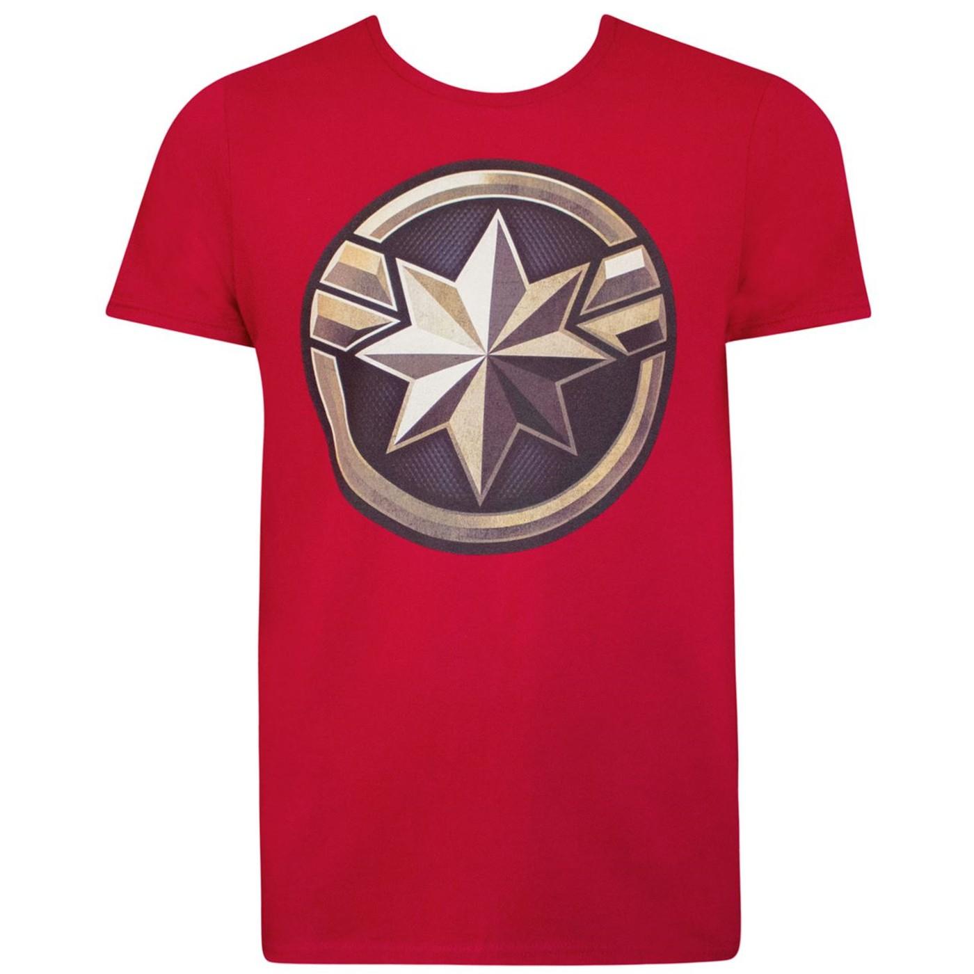 Captain Marvel Movie Logo Men's T-Shirt