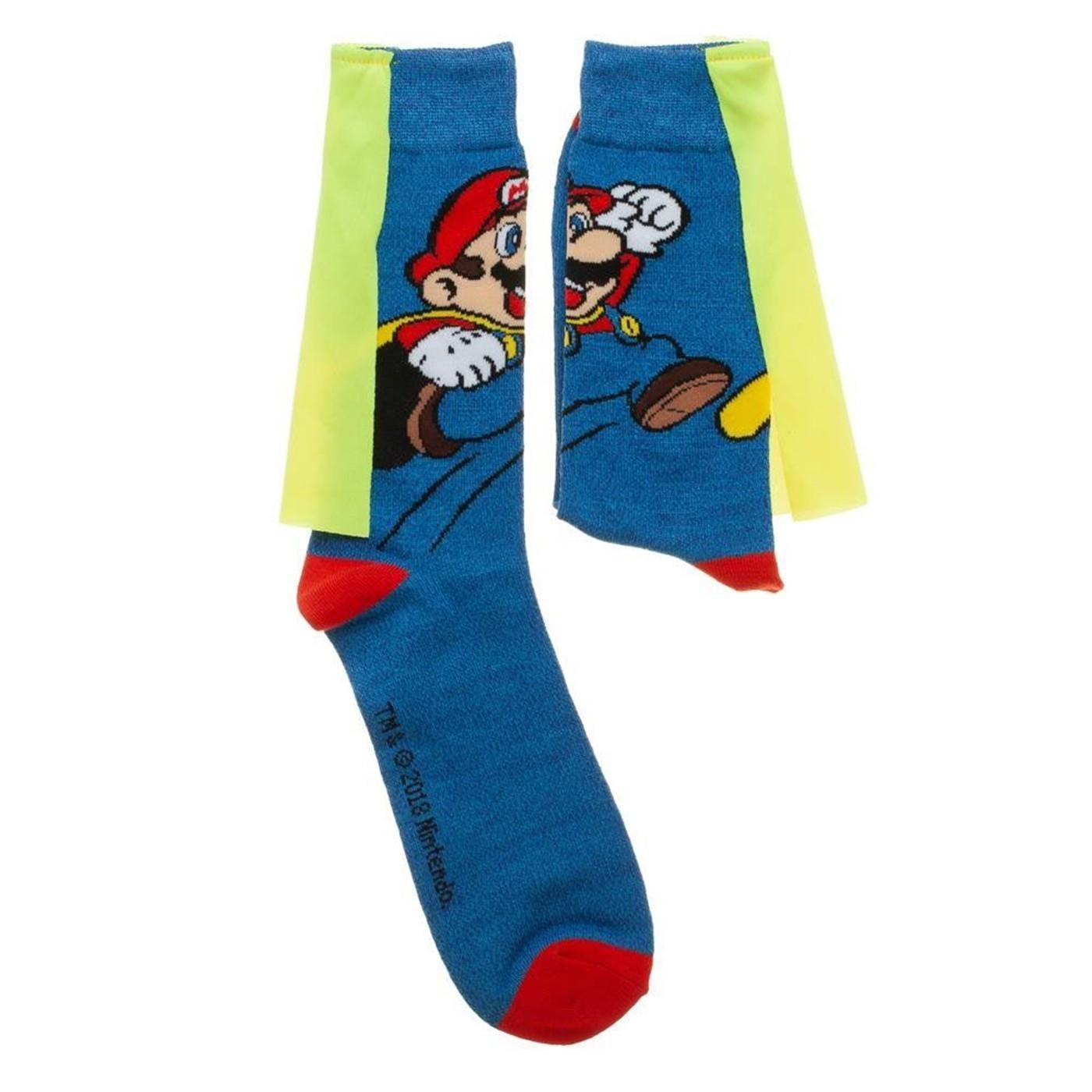 Nintendo Super Mario Brothers Caped Socks