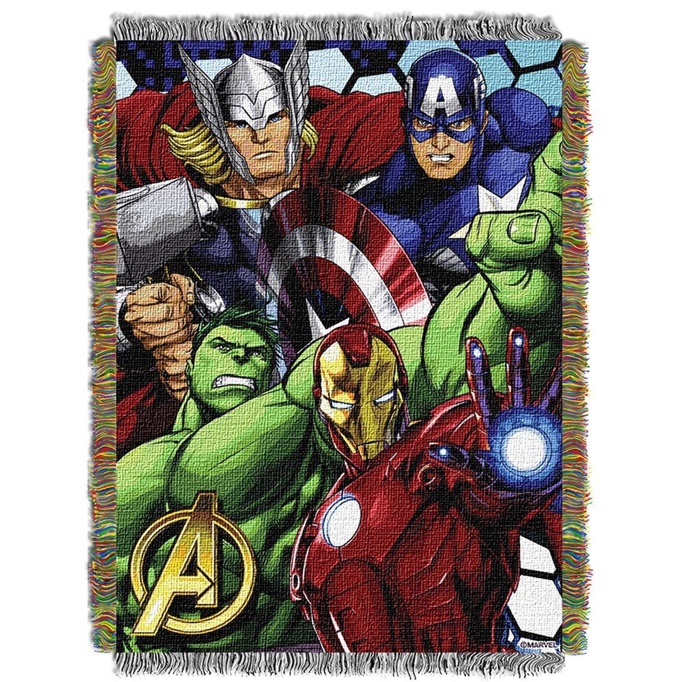 Avengers Retro Tapestry Throw