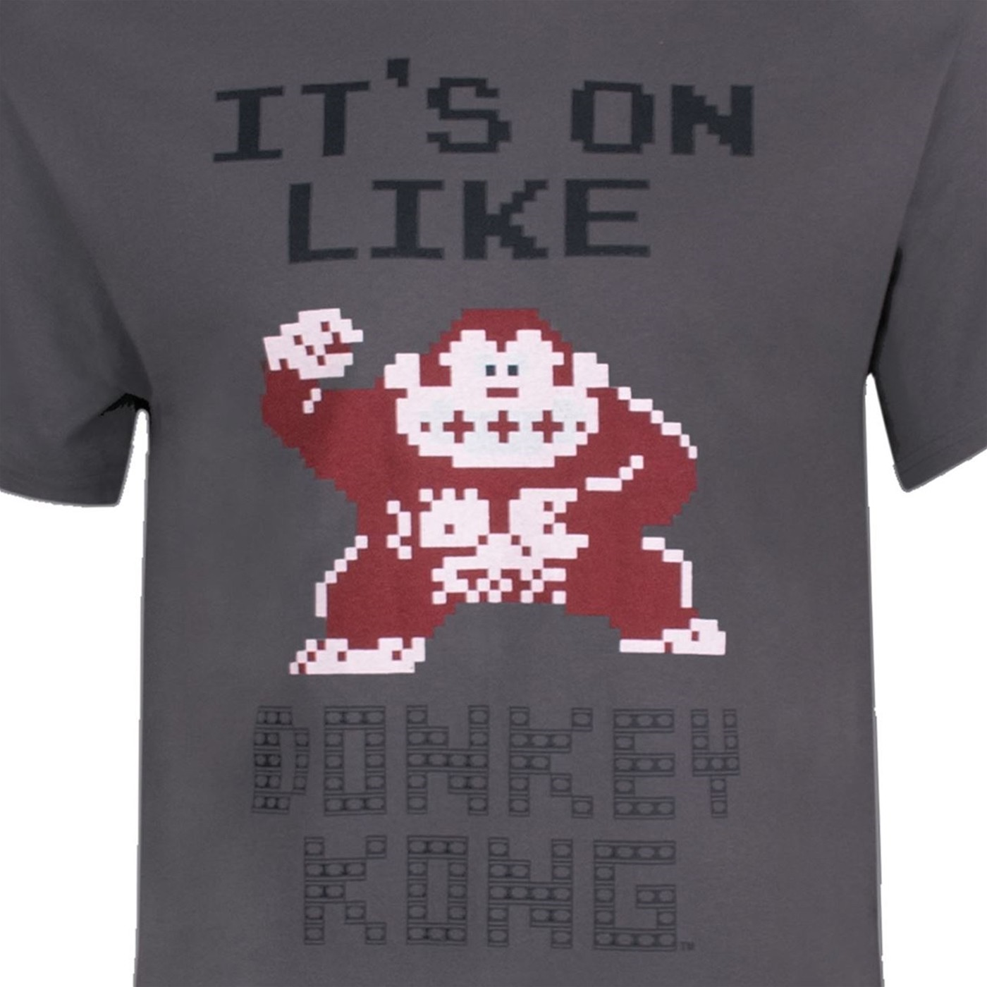 Nintendo It's on Like Donkey Kong Men's Grey T-Shirt