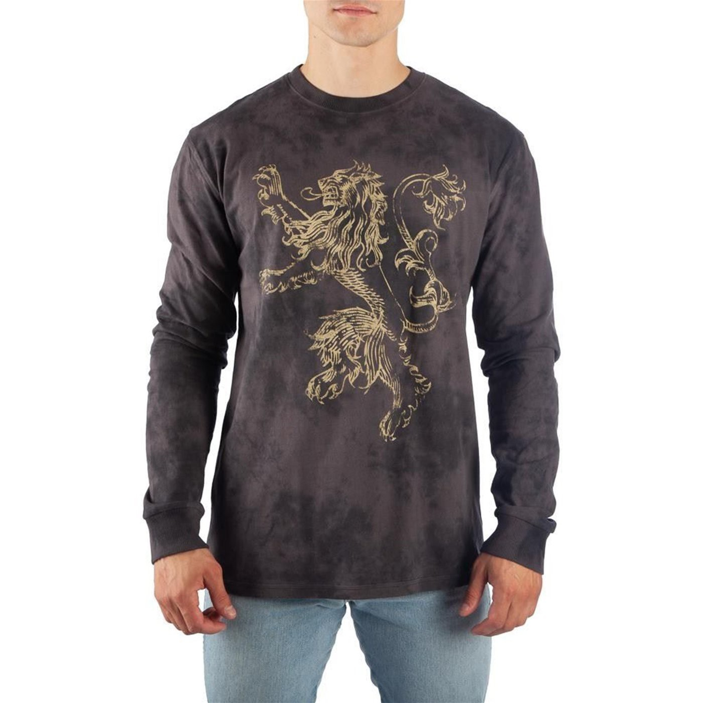 Game of Thrones Lannister Long Sleeve Acid Wash T-Shirt