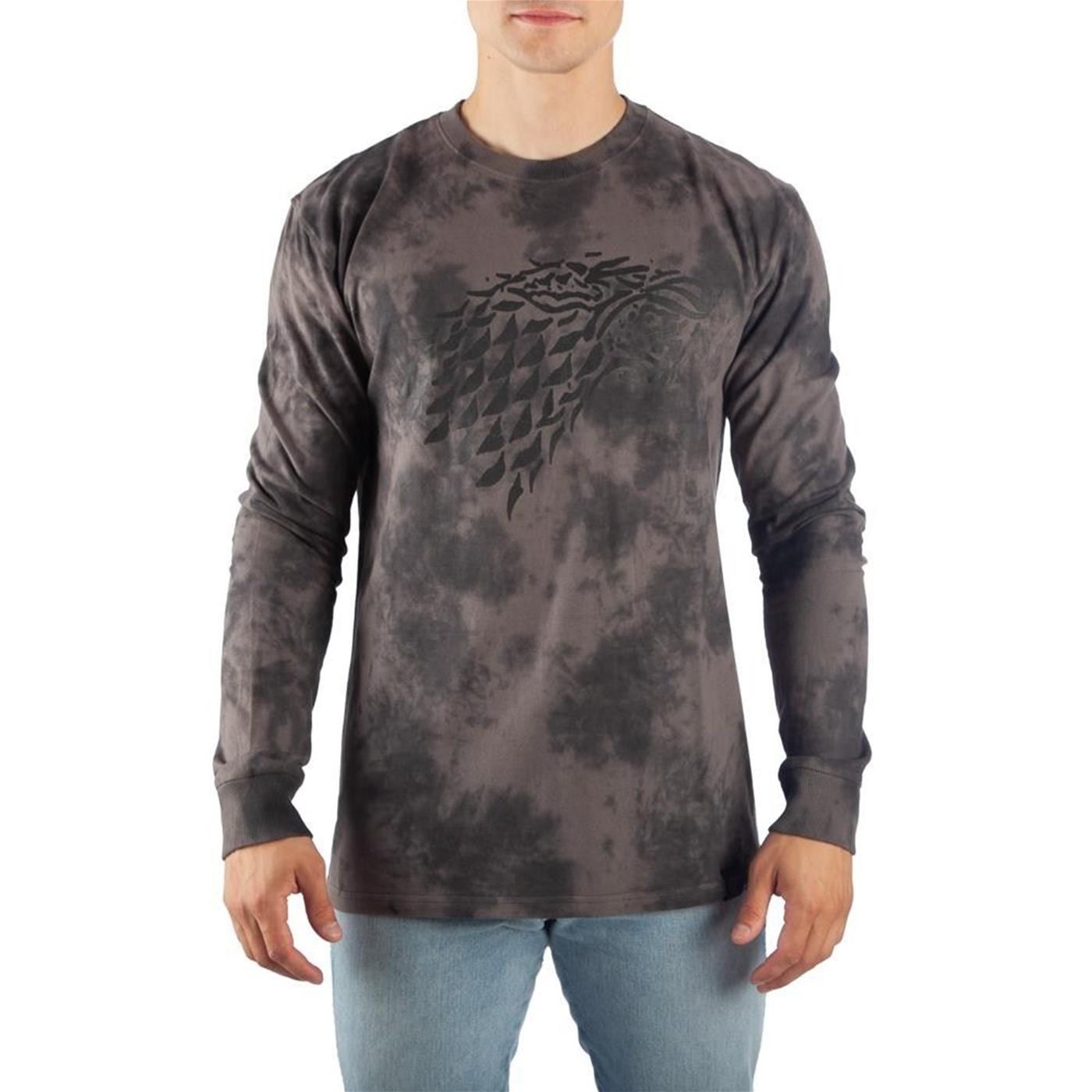 Game of Thrones Stark Long Sleeve Acid Wash T-Shirt