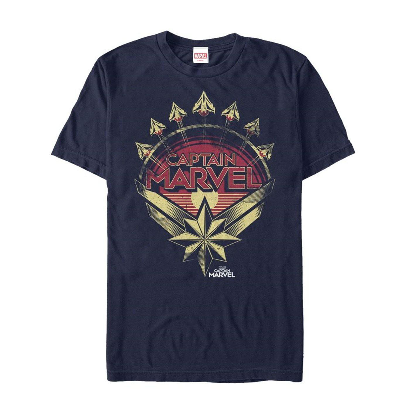 Captain Marvel Retro Fighter Jet Plane Men's T-Shirt