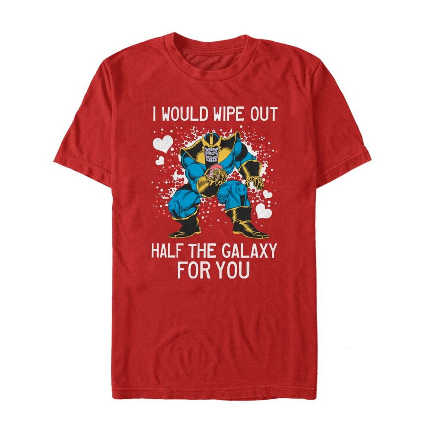 Valentine's Thanos Wipe Out Galaxy for You Men's T-Shirt