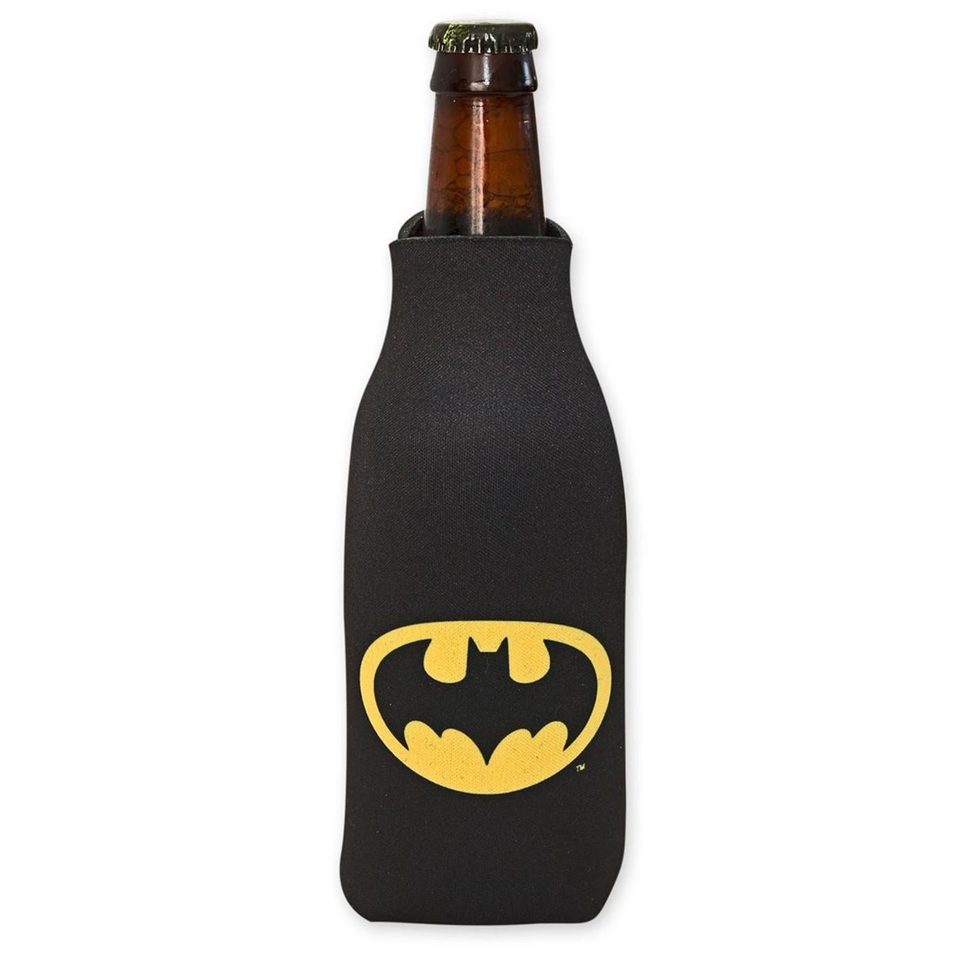 DC Comics Batman Logo Bottle Can Cooler w/ card