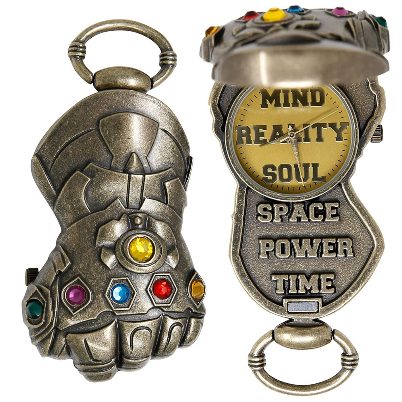 Avengers Endgame Movie Thanos Gauntlet Pocket Watch