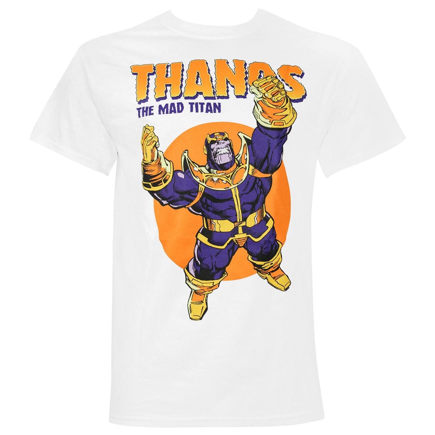 Thanos The Mad Titan White Men's T-Shirt
