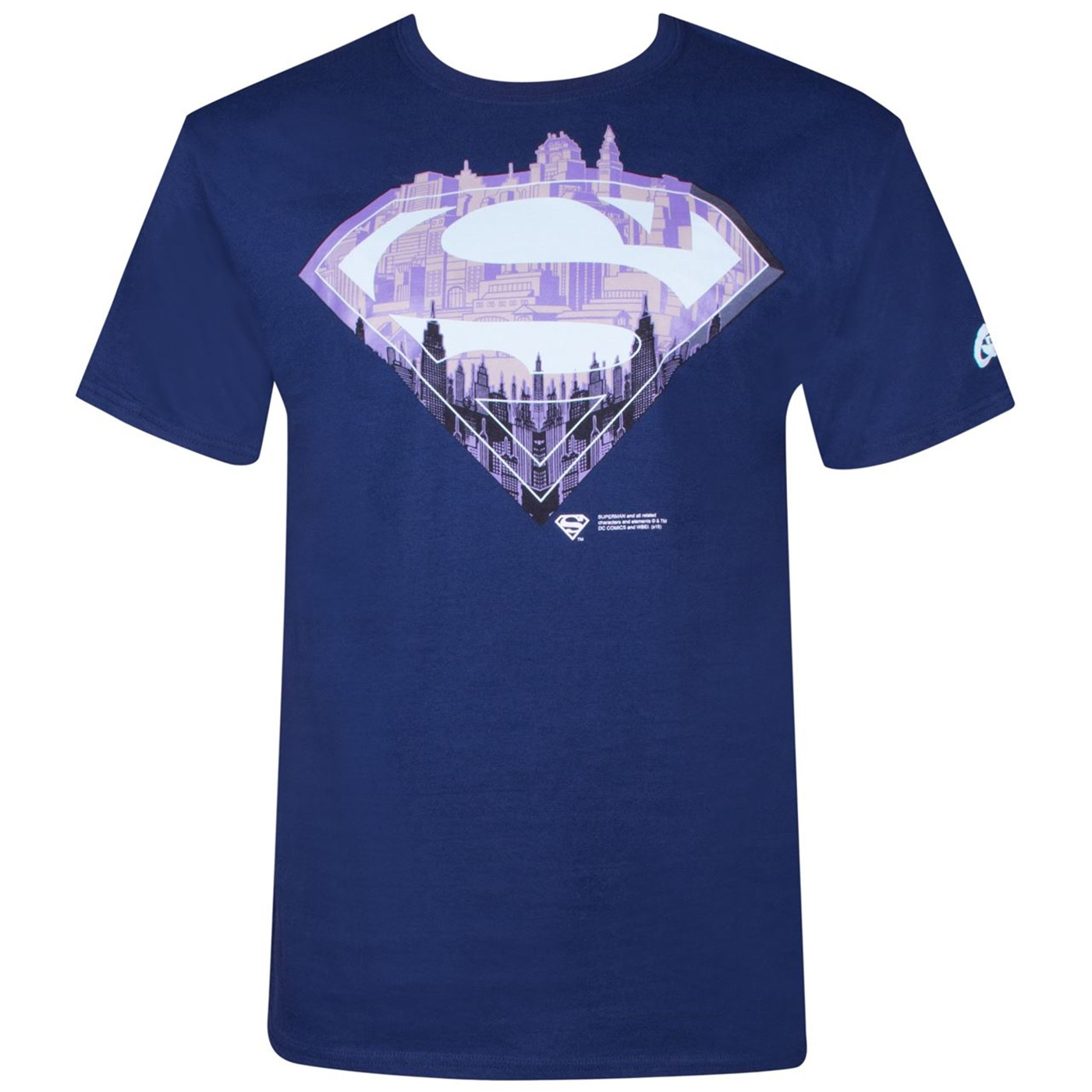 Superman City Symbol Men's Navy T-shirt