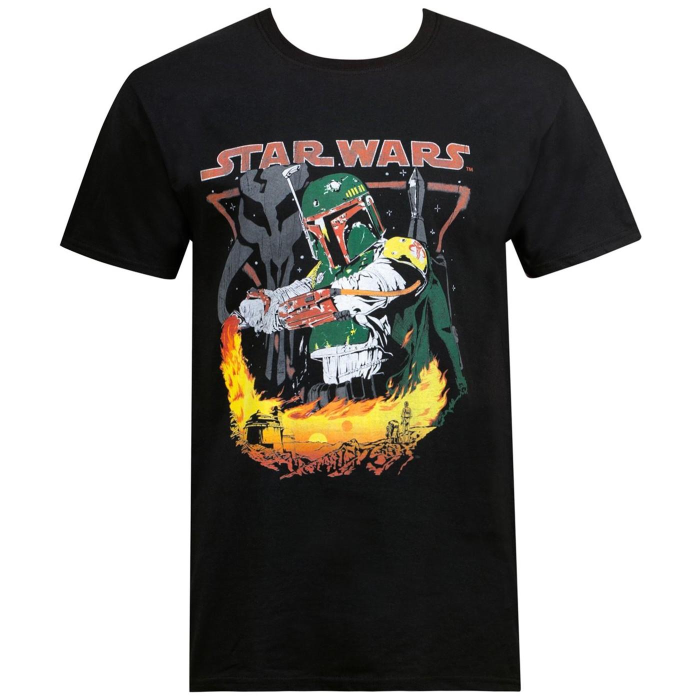 Star Wars Boba Fett Tatooine Men's T-Shirt