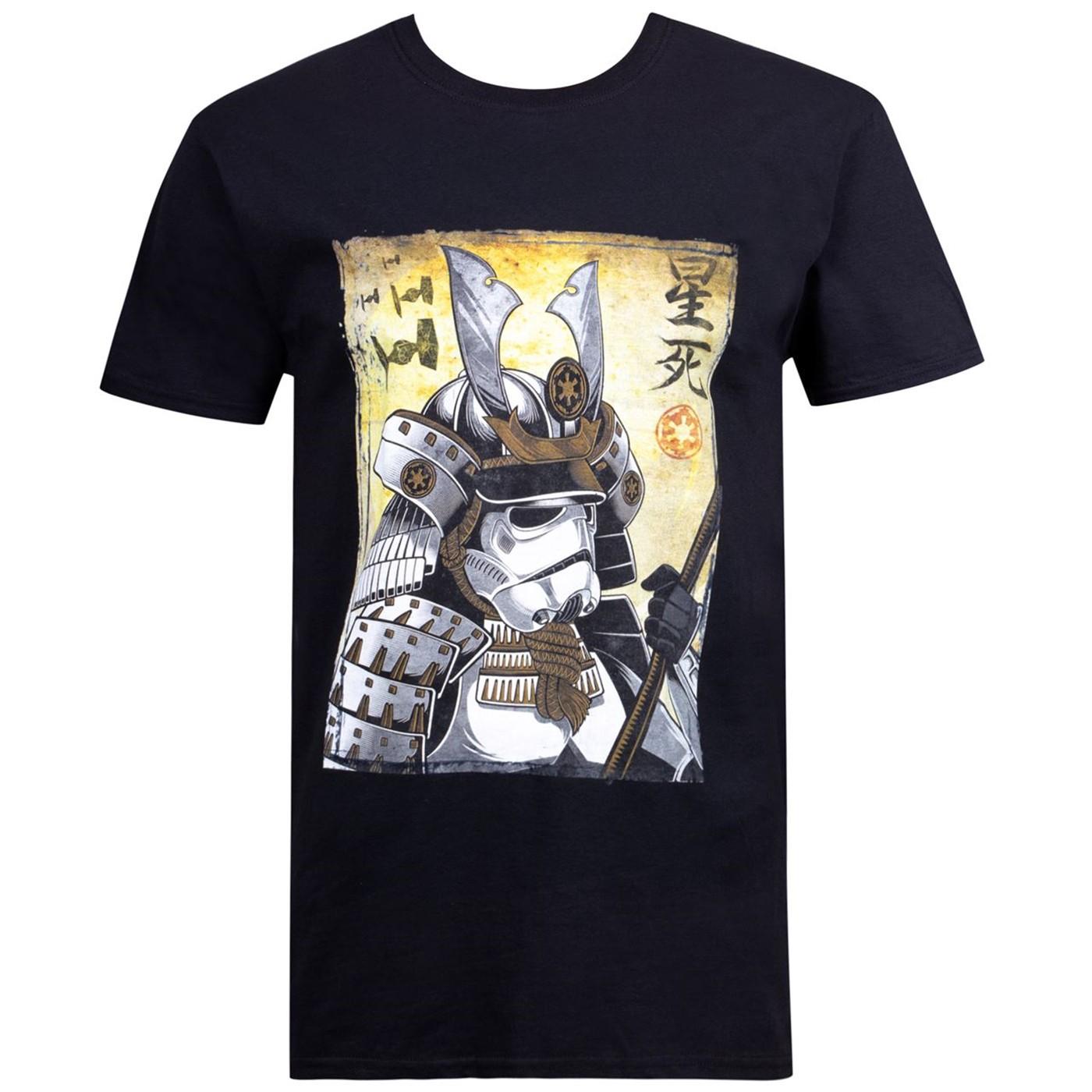 Star Wars Samurai Stormtrooper Black Men's T-Shirt