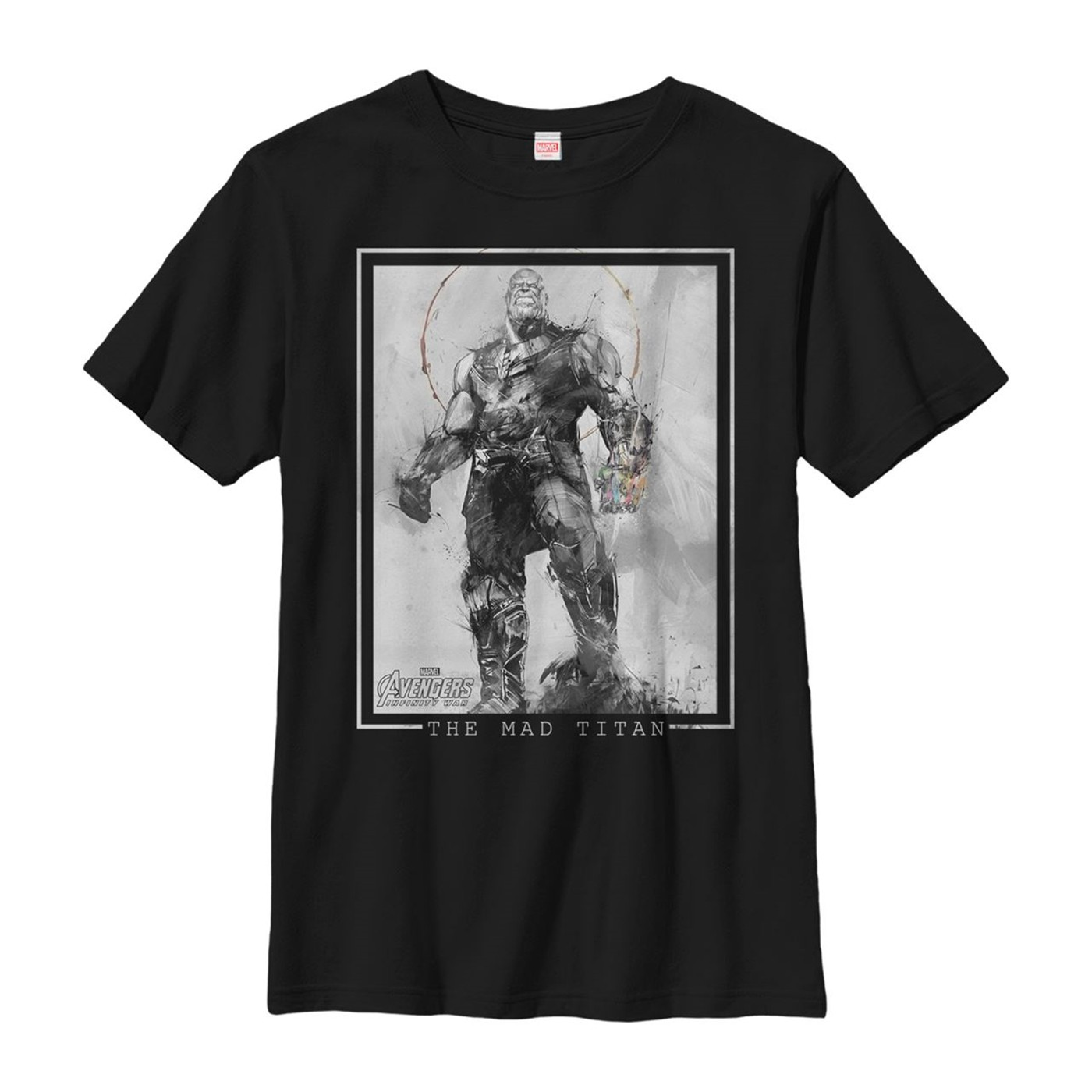 Thanos The Mad Titan Grayscale Men's T-Shirt