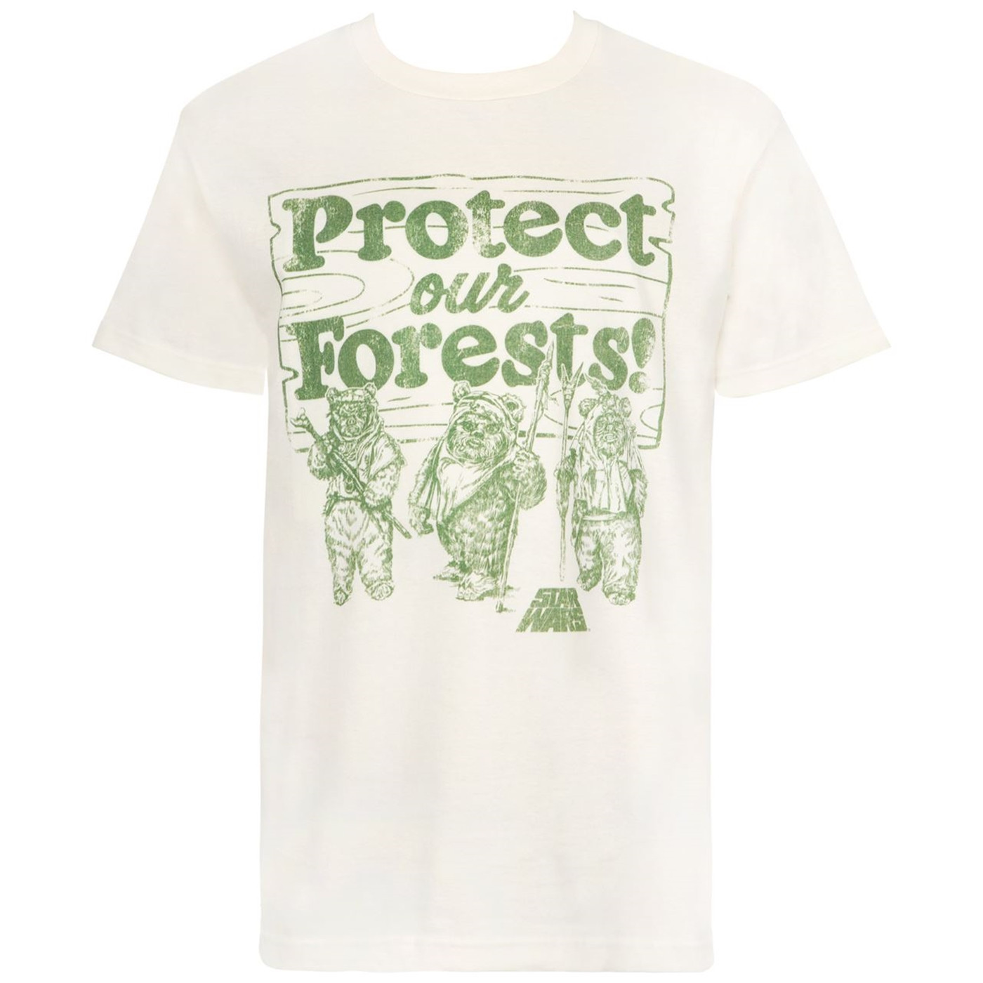 Star Wars Ewok Protect Our Forests Cream Men's T-Shirt