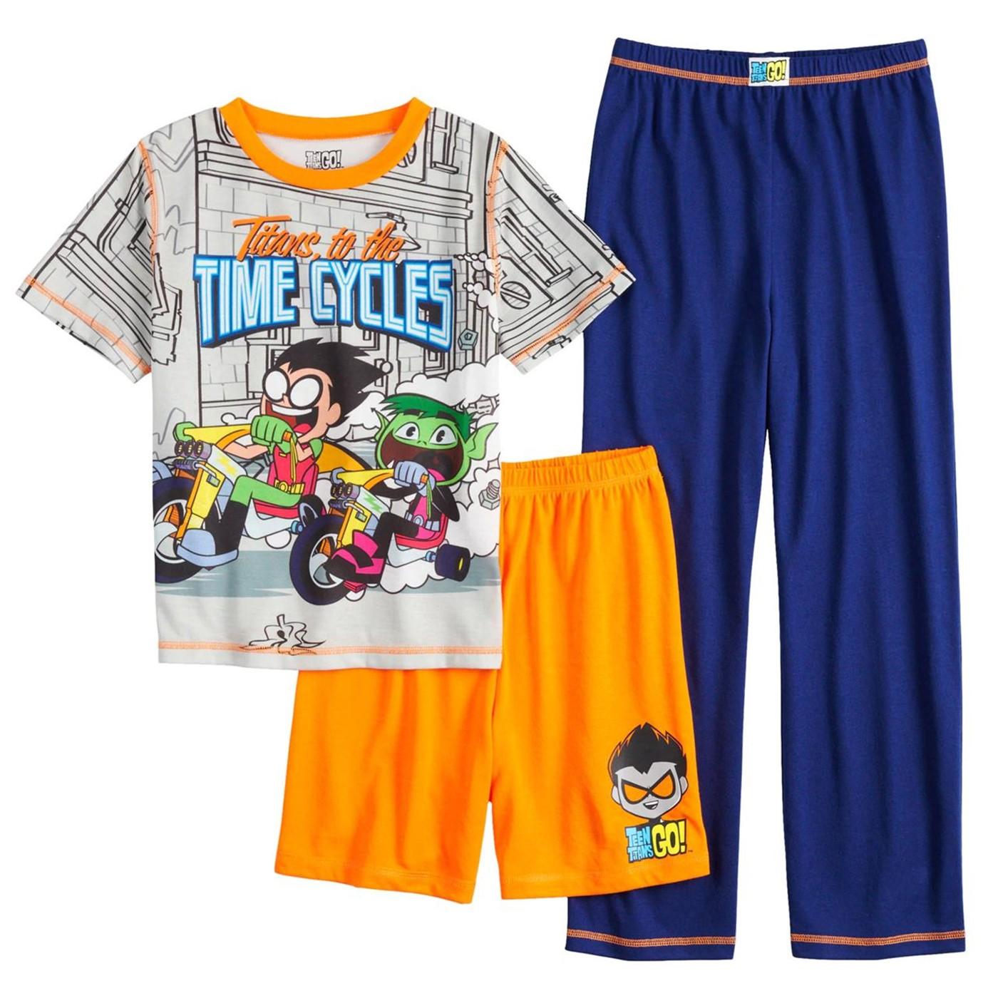 Teen Titans 3-Piece Youth Pajama Set