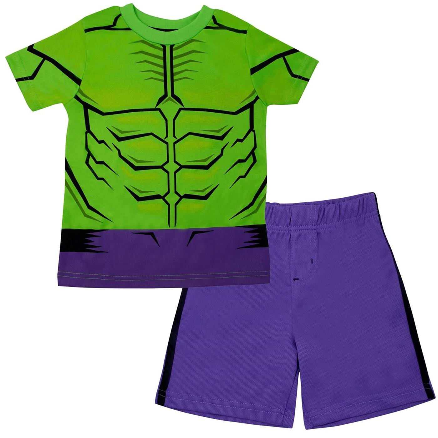 Incredible Hulk Performance Costume Kids Short Set