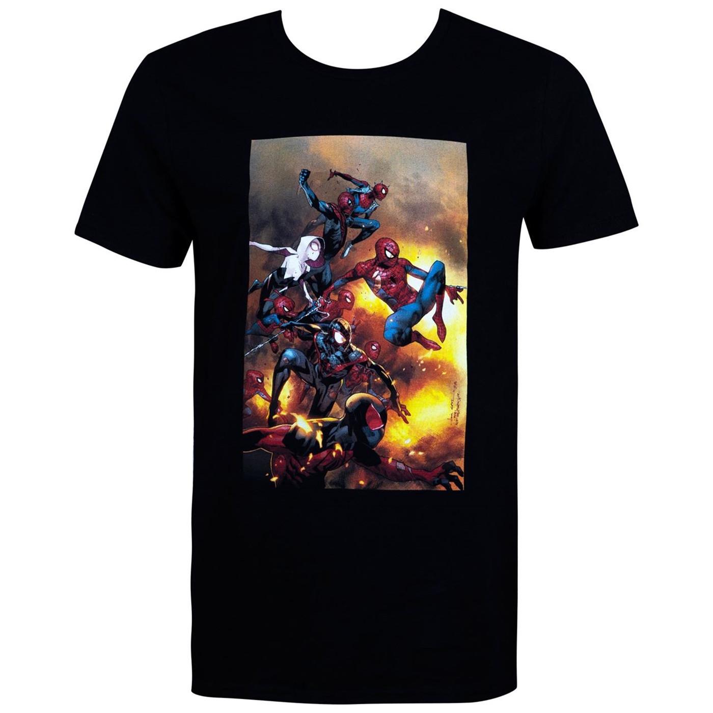 Spider-Man Spider-Verse Black Men's T-Shirt