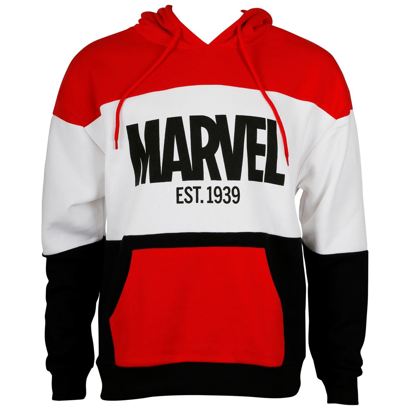 Marvel Est.1939 Red White & Black Men's Hoodie
