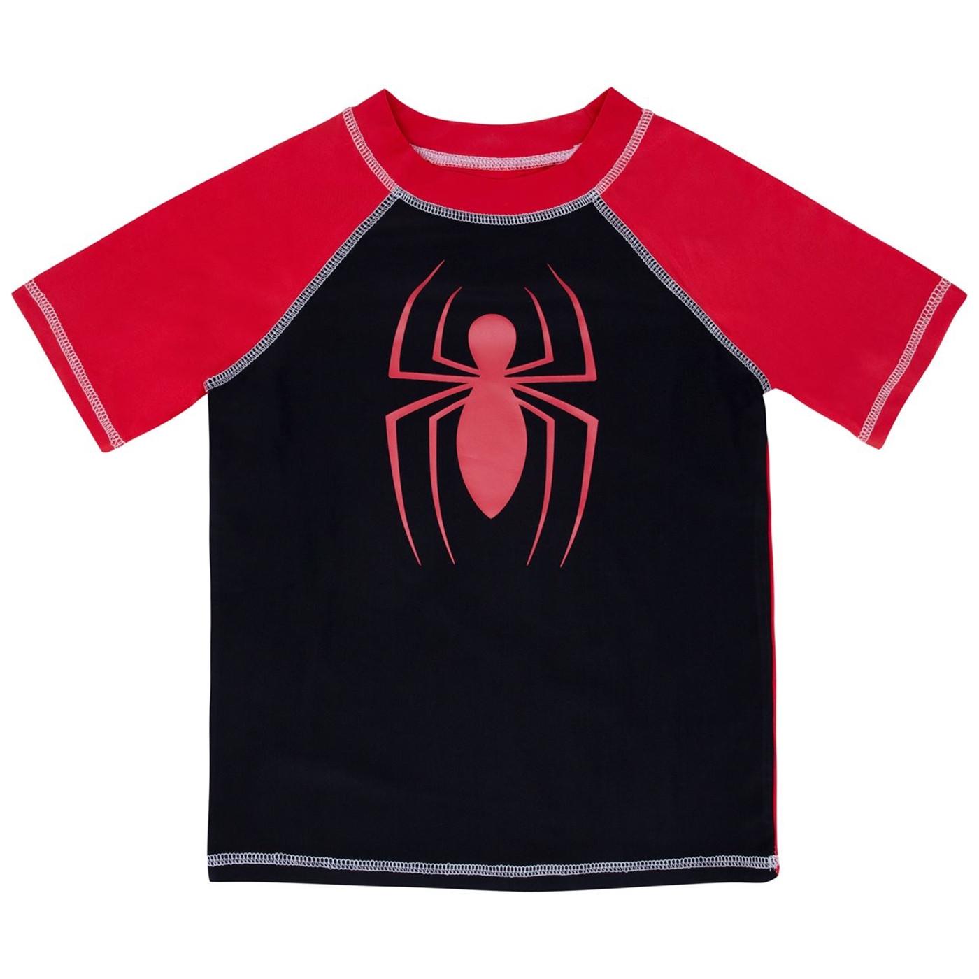 Spider-Man Kids Rash Guard Swimwear